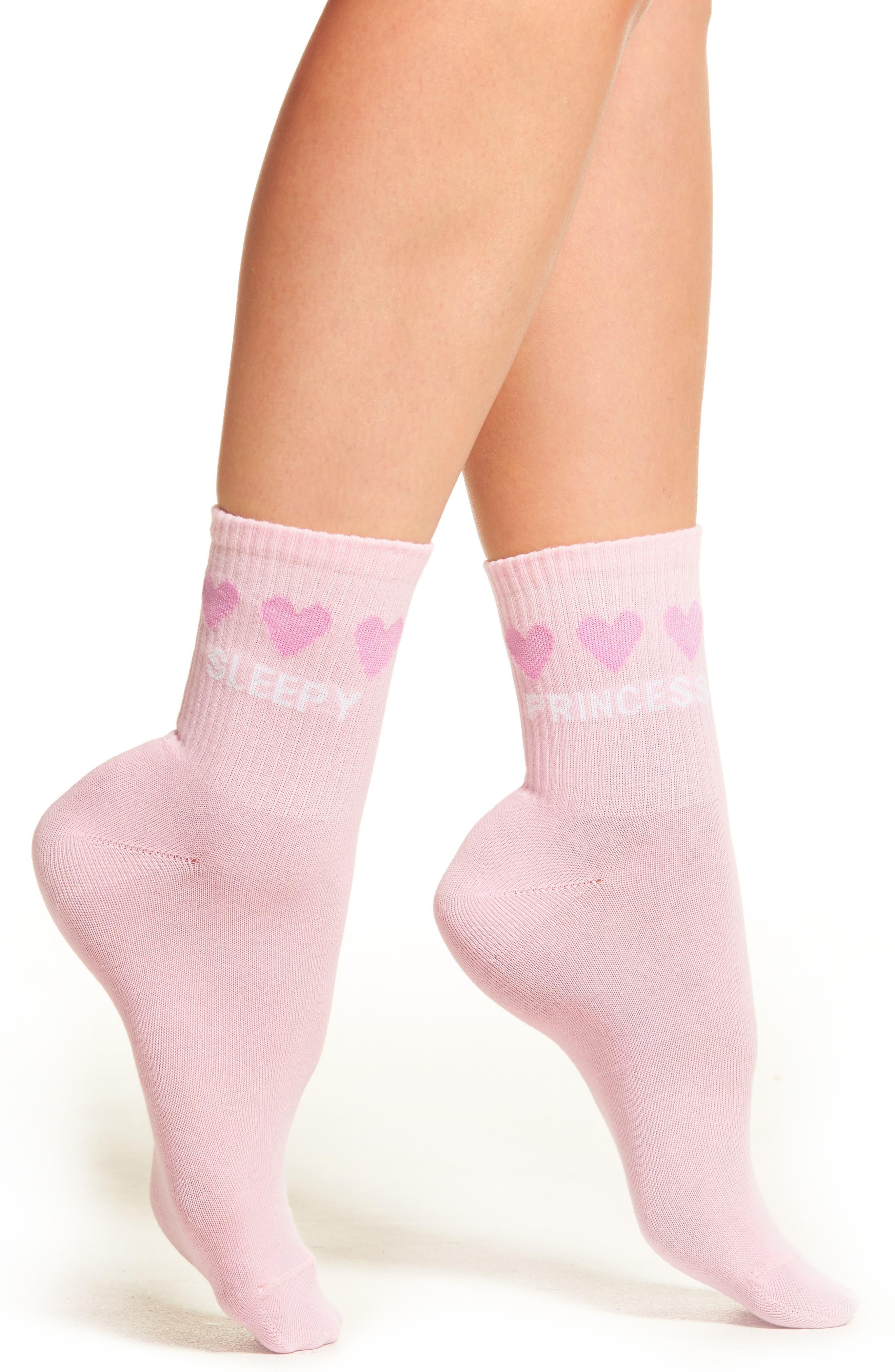 Sleepy Socks,                         Main,                         color, Pink