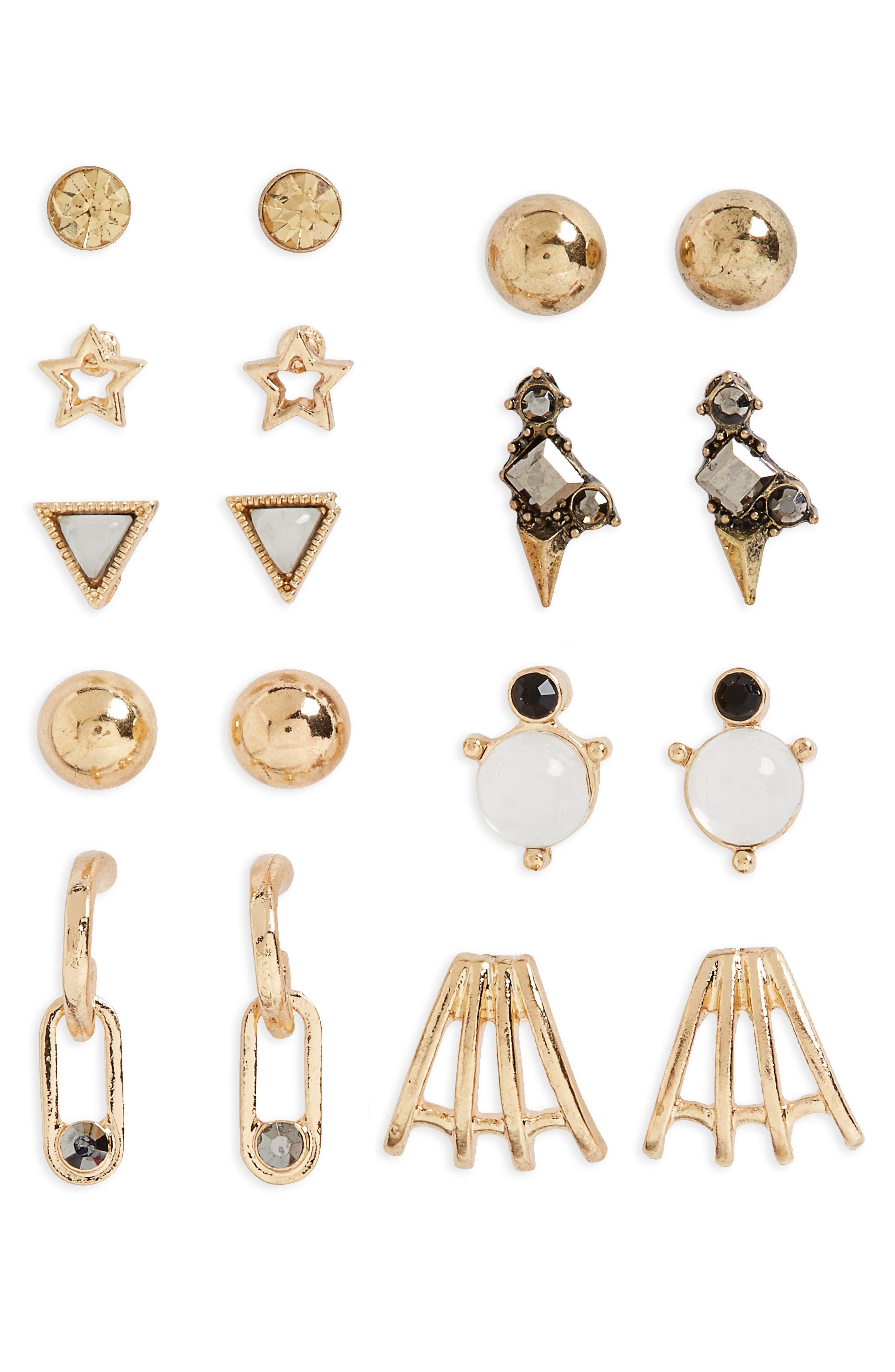 BP. 9-Pack Stud Earrings