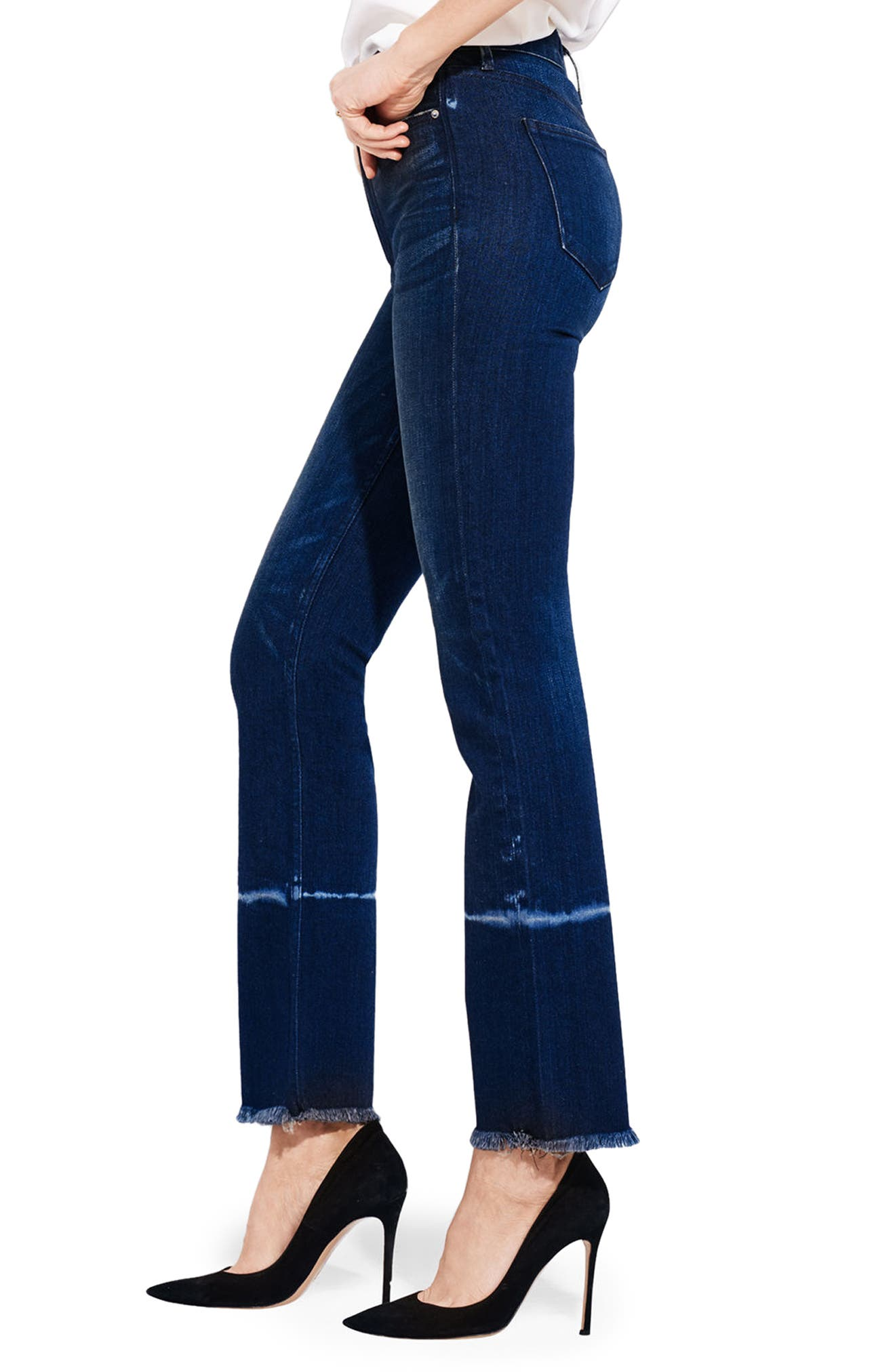 The Aloe High Waist Straight Leg Jeans,                             Alternate thumbnail 3, color,                             Orchids