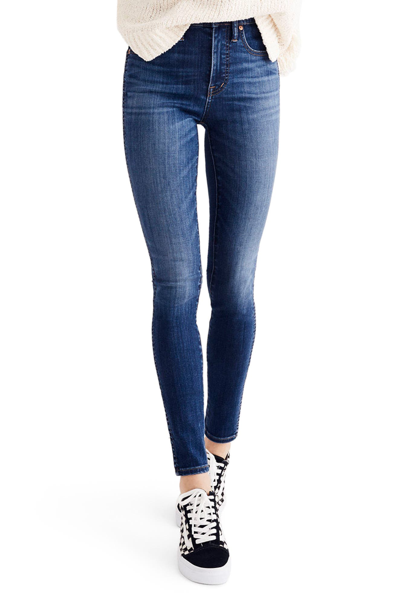 Alternate Image 1 Selected - Madewell 10-Inch High Waist Skinny Jeans (Danny)(Petite)