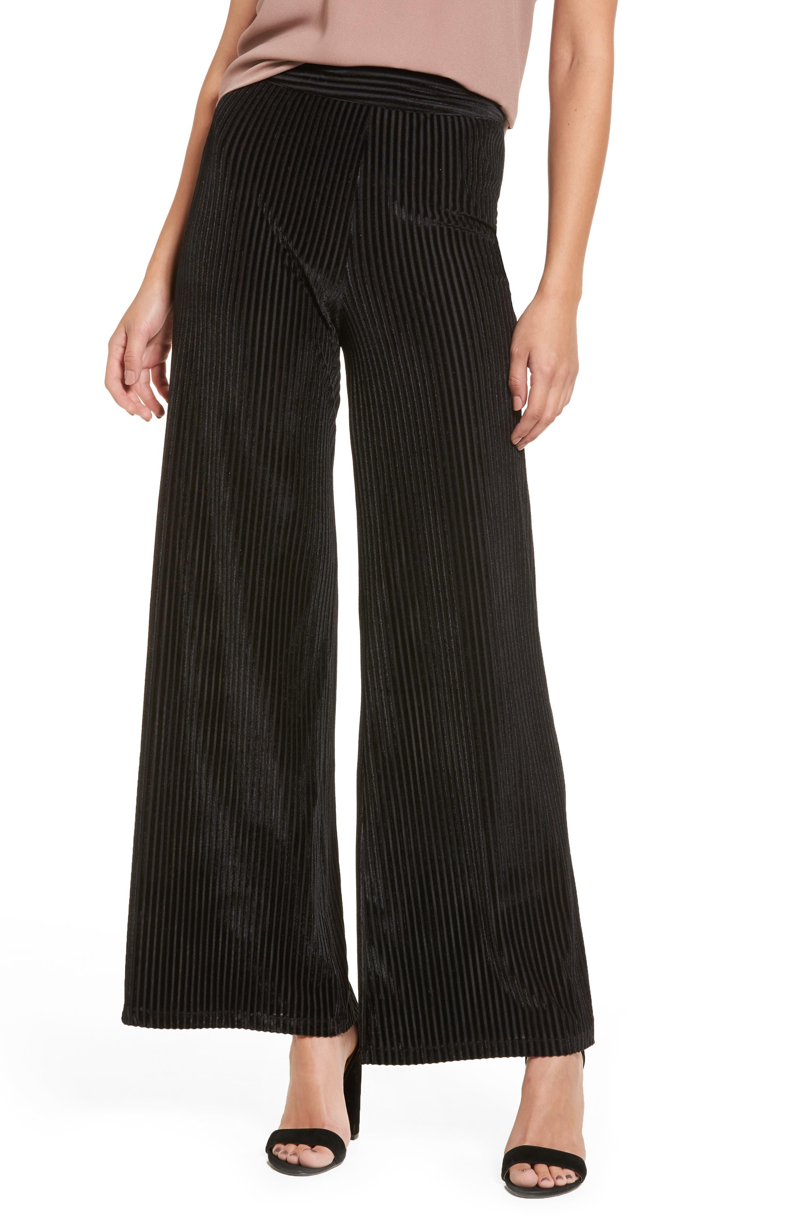 Marley Velvet Pants,                         Main,                         color, Black