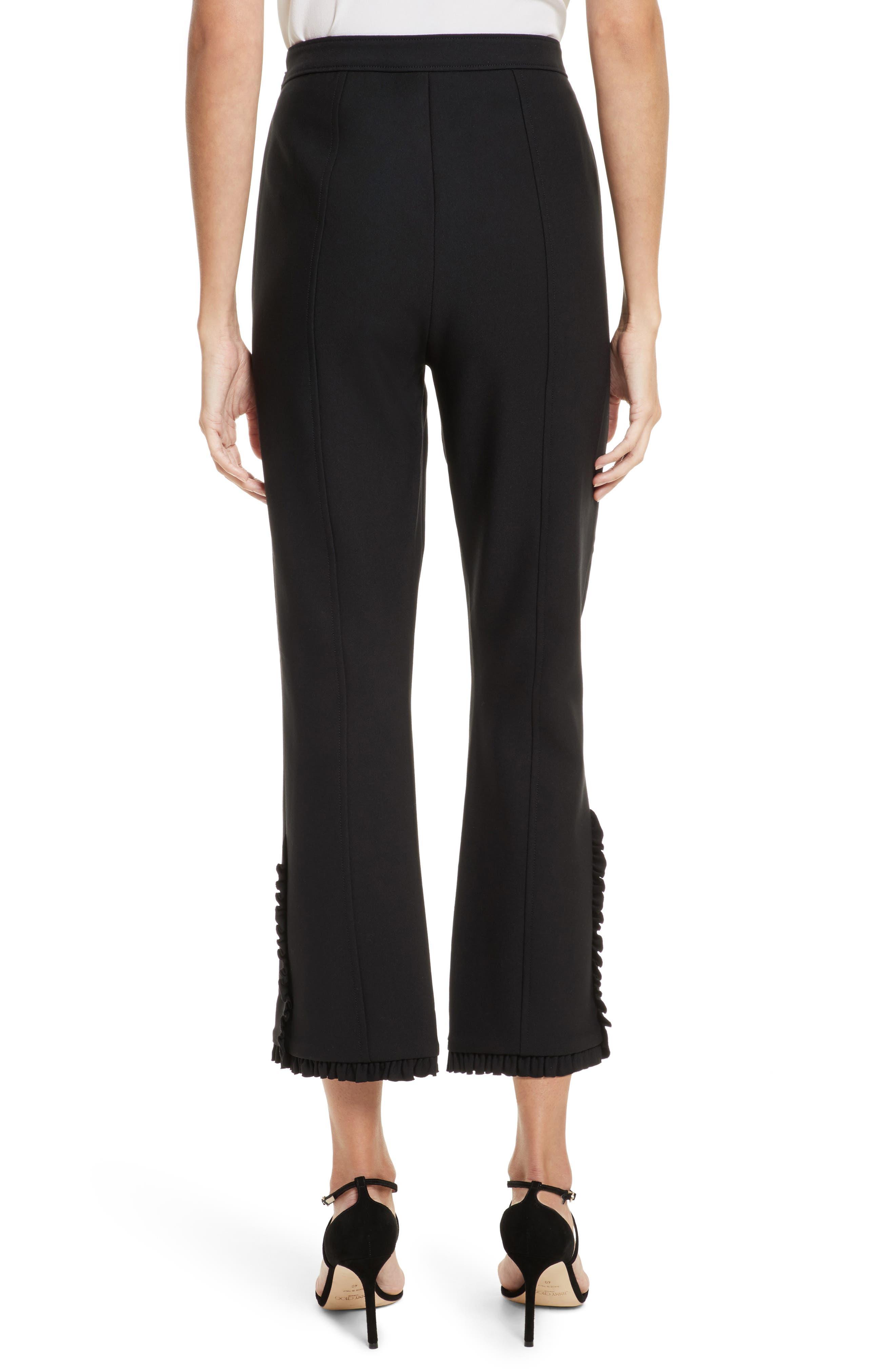 Seneca Flare Leg Crop Pants,                             Alternate thumbnail 2, color,                             Black