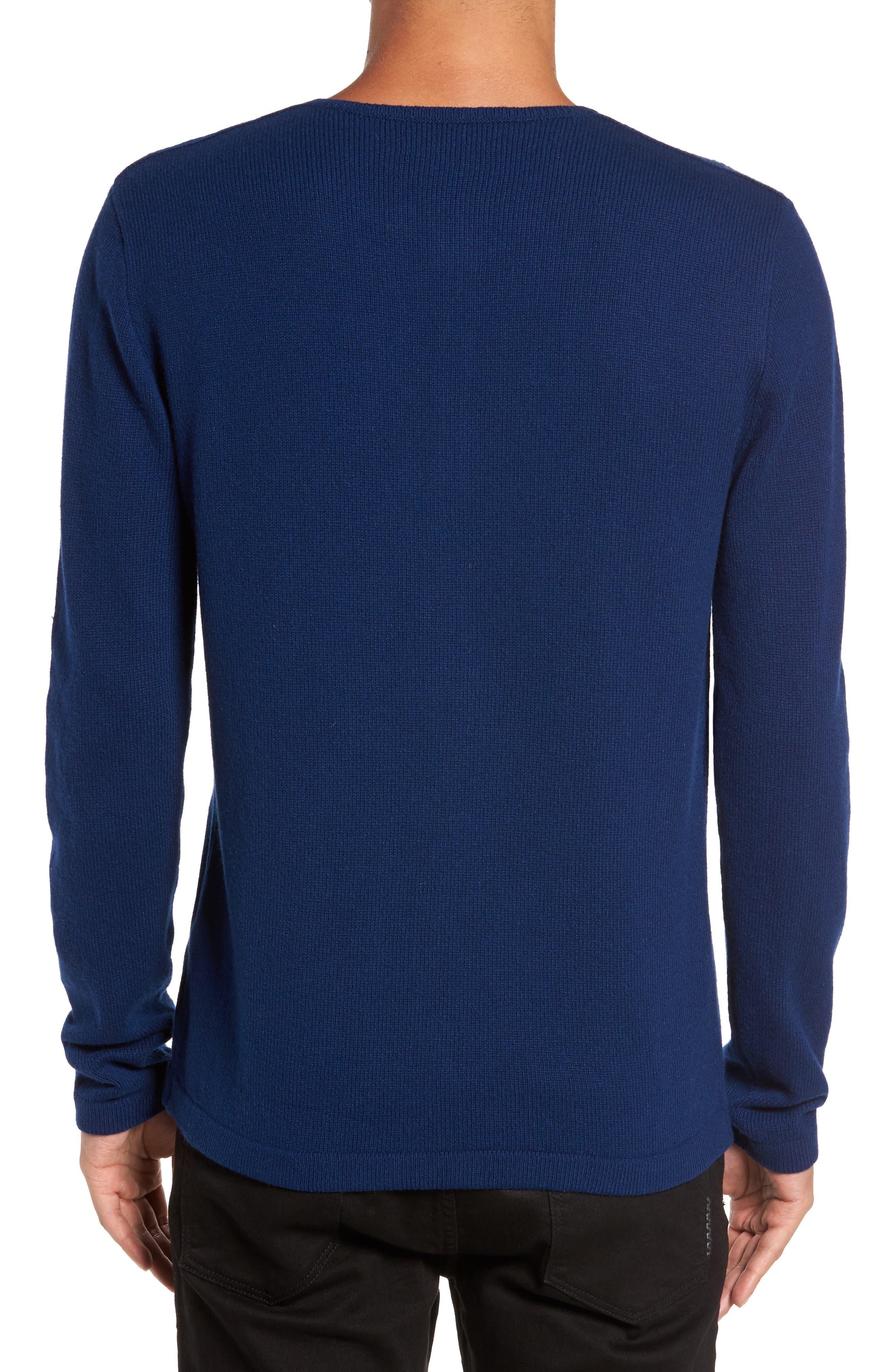 Henley Sweater,                             Alternate thumbnail 2, color,                             Atlantic Blue