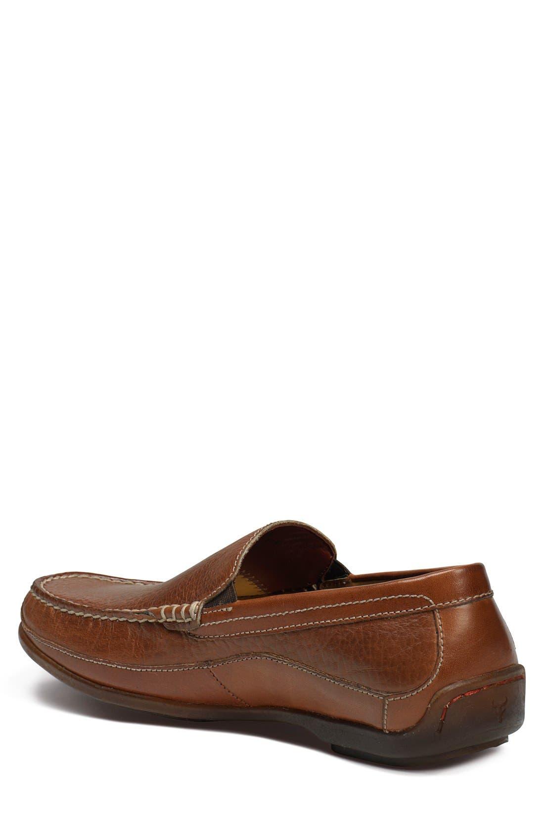 'Declan' Moc Toe Venetian Slip-On,                             Alternate thumbnail 2, color,                             Saddle Tan