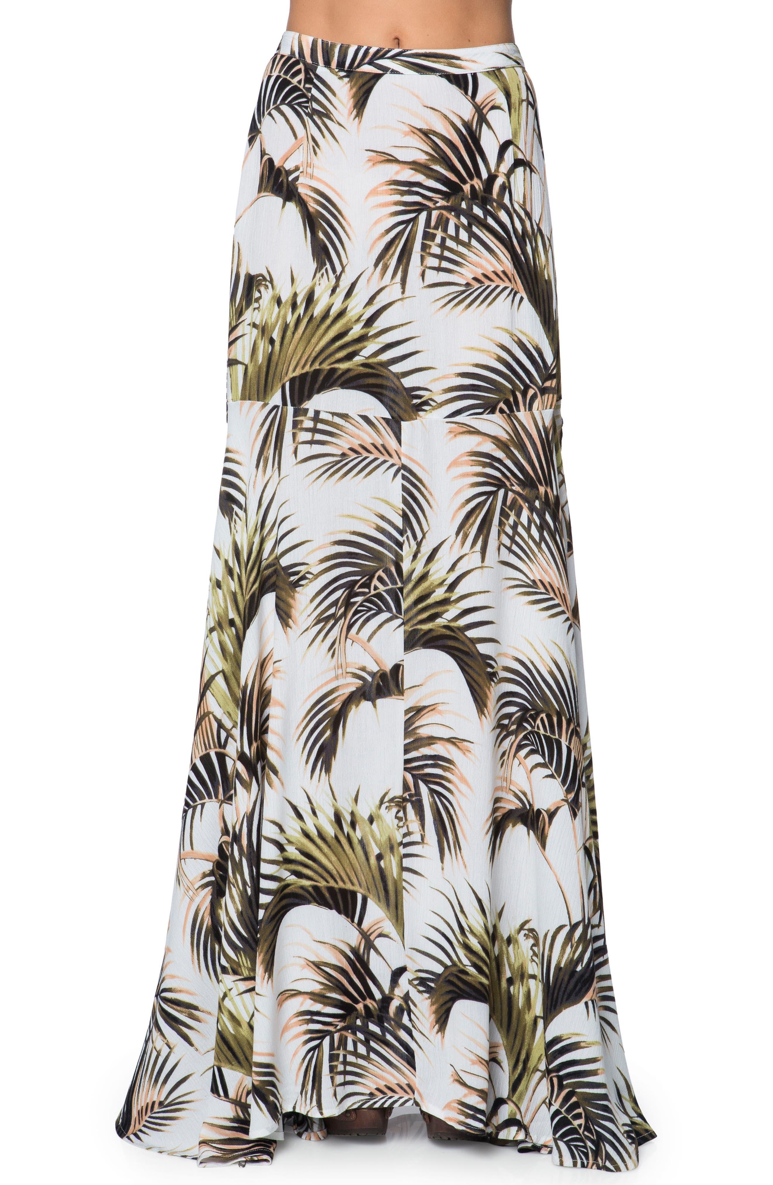 Alternate Image 1 Selected - O'Neill Nosara Slit Maxi Skirt