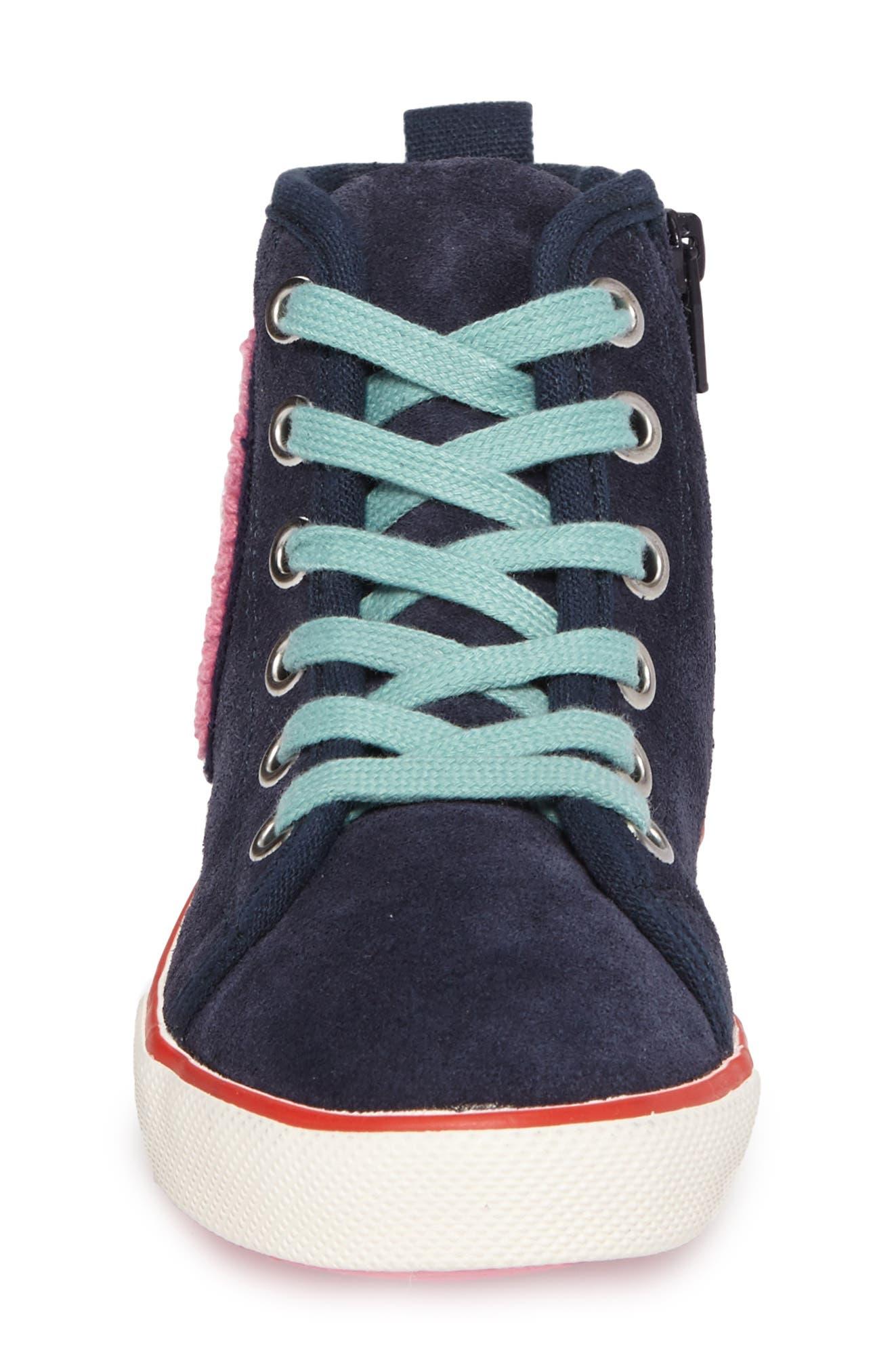 Alternate Image 4  - Mini Boden Embellished High Top Sneaker (Toddler, Little Kid & Big Kid)