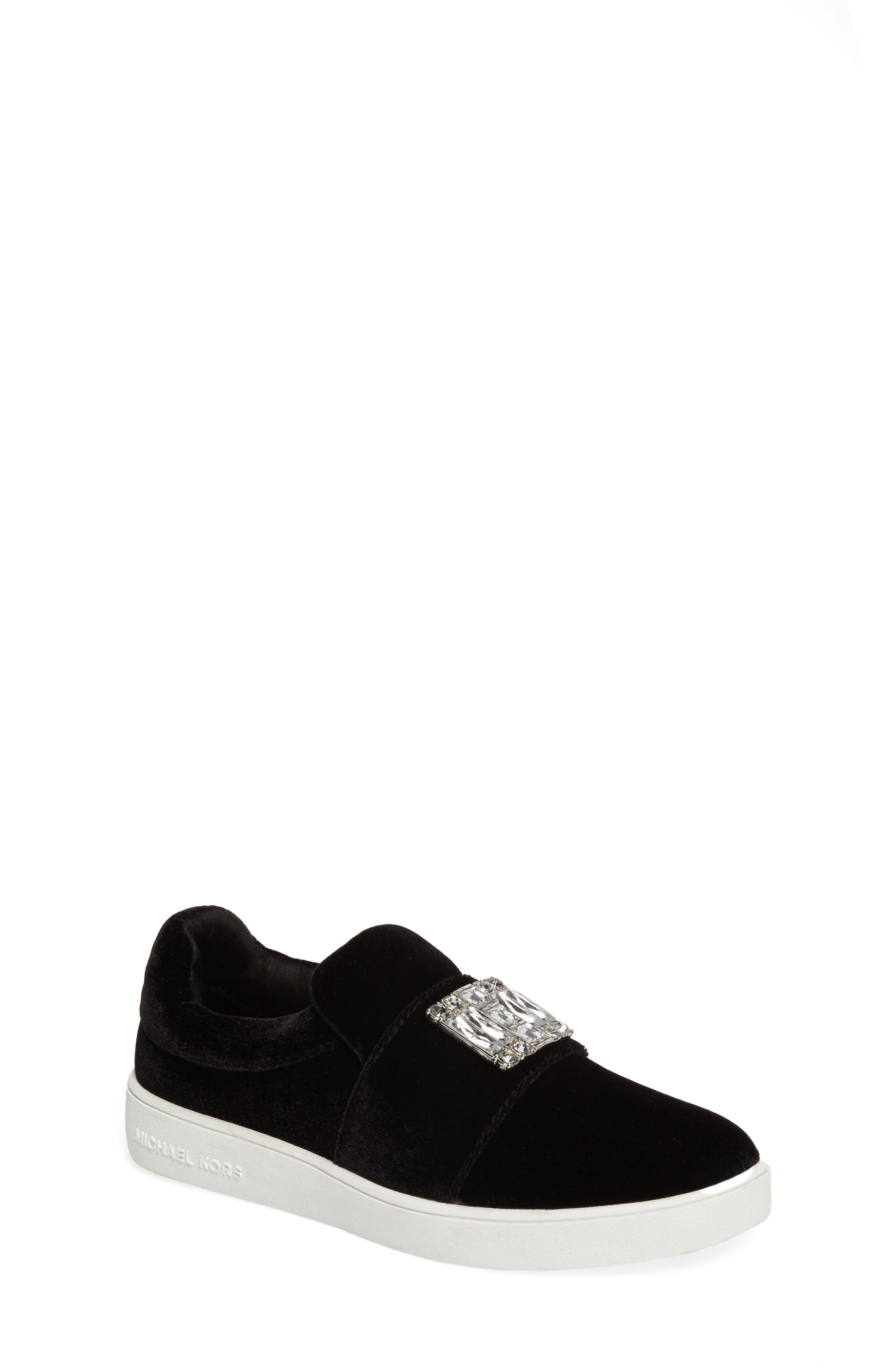 Alternate Image 1 Selected - MICHAEL Michael Kors Ivy Dream Embellished Slip-On Sneaker (Little Kid & Big Kid)