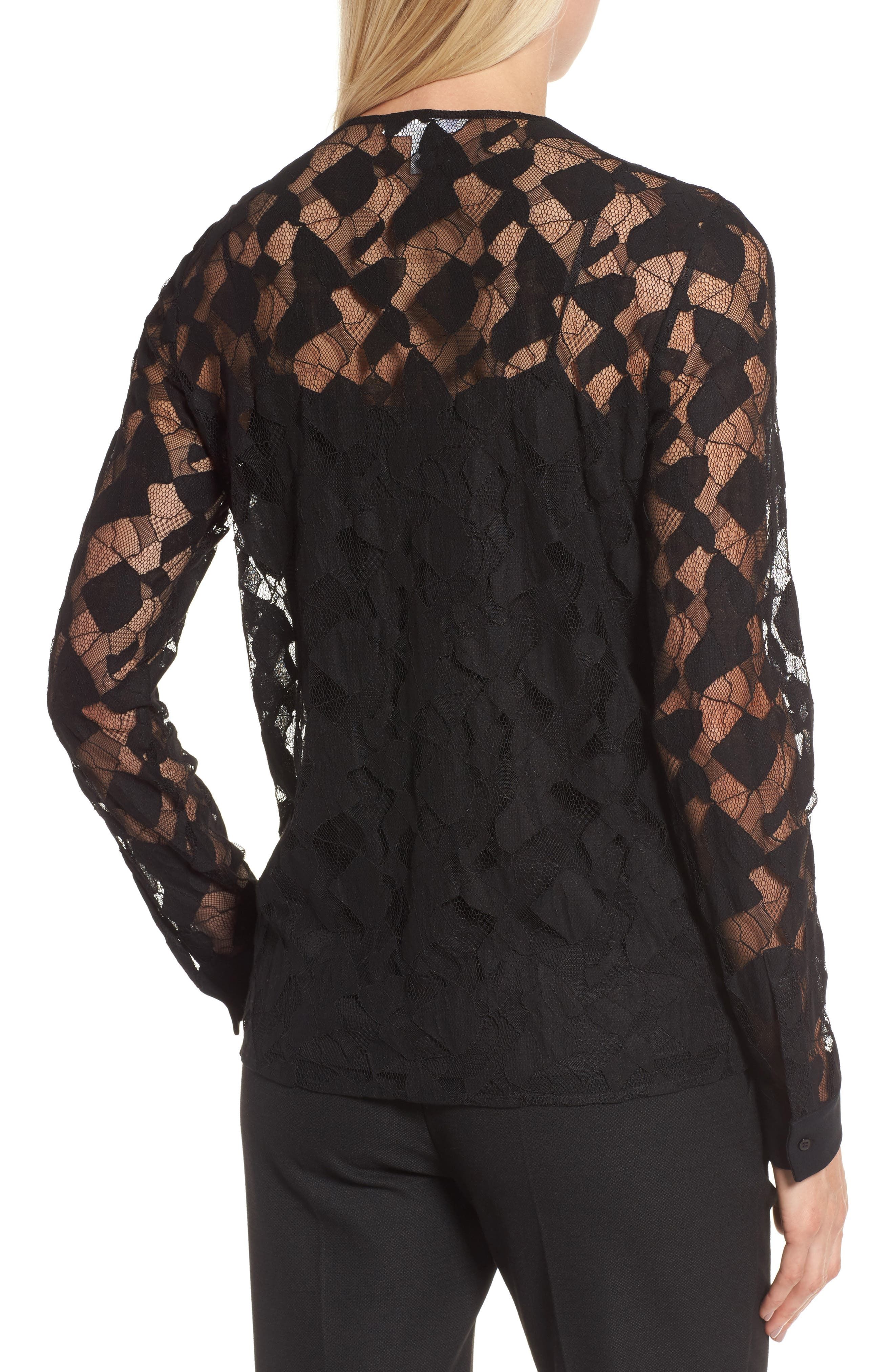Alternate Image 2  - BOSS Banela Lace Blouse