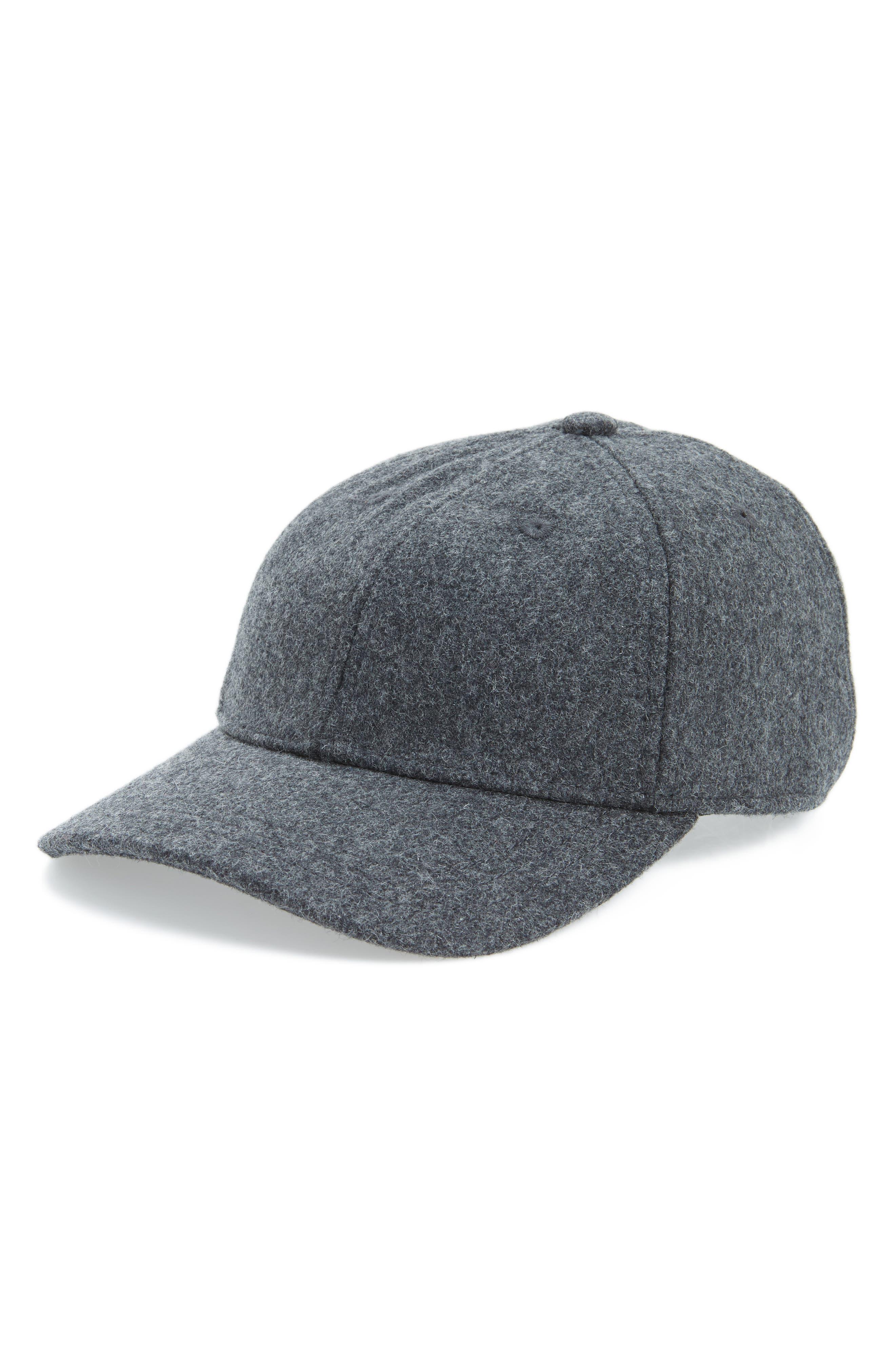 Wool Blend Baseball Hat,                         Main,                         color, Heather Blackbird