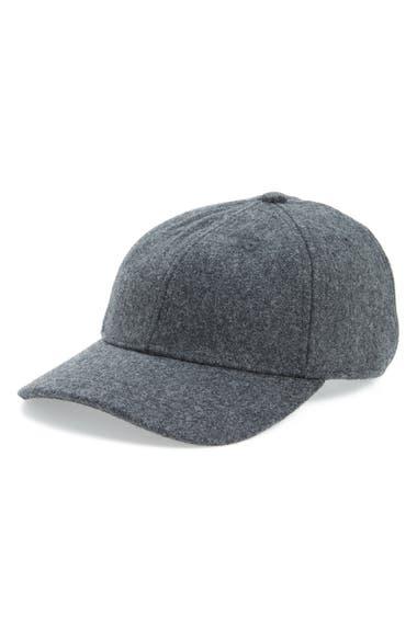 Madewell Wool Blend Baseball Hat - Grey In Heather Blackbird ... c65cbed61e45