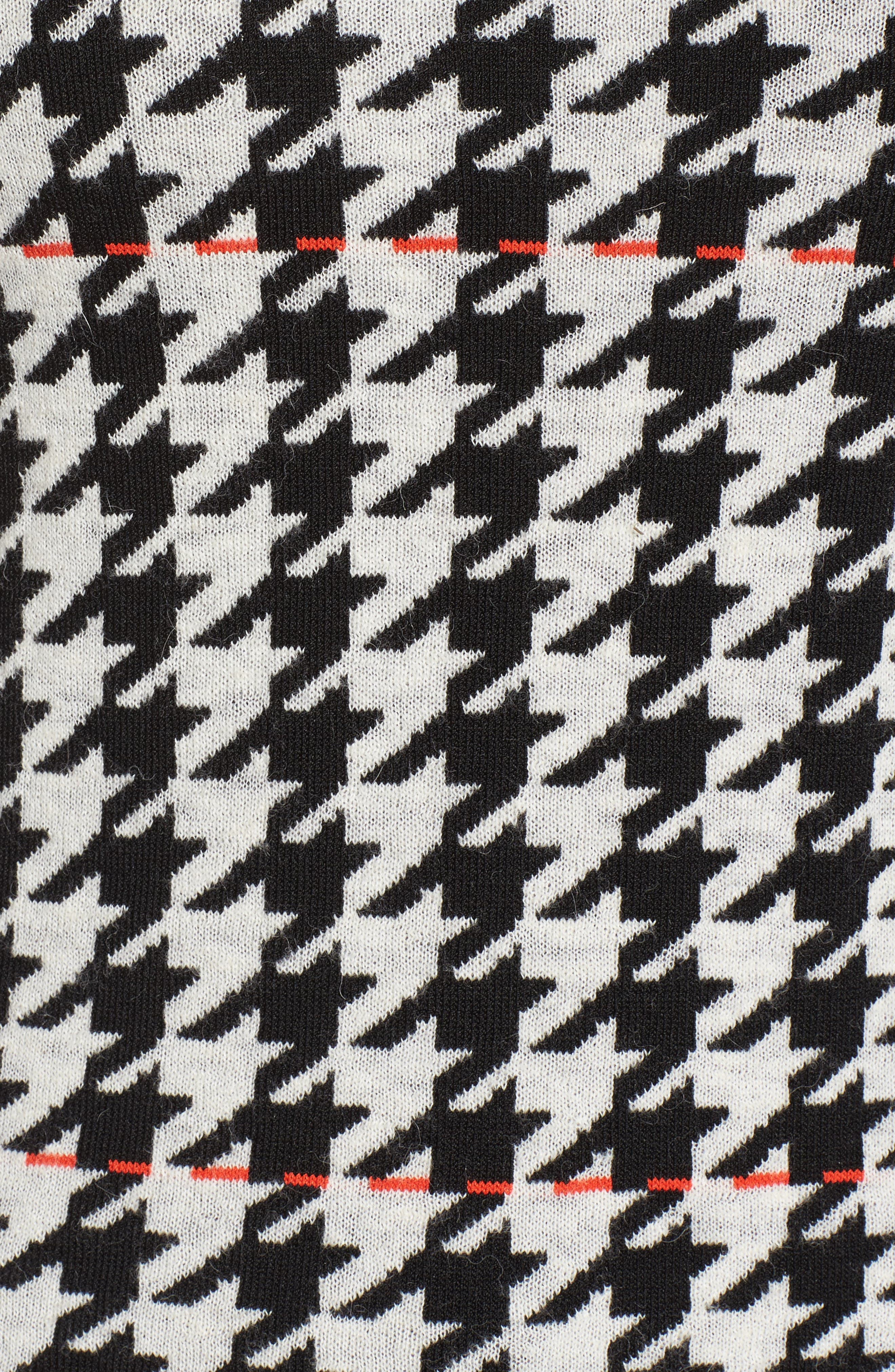 Fatma Houndstooth Sweater,                             Alternate thumbnail 5, color,                             Black Fantasy