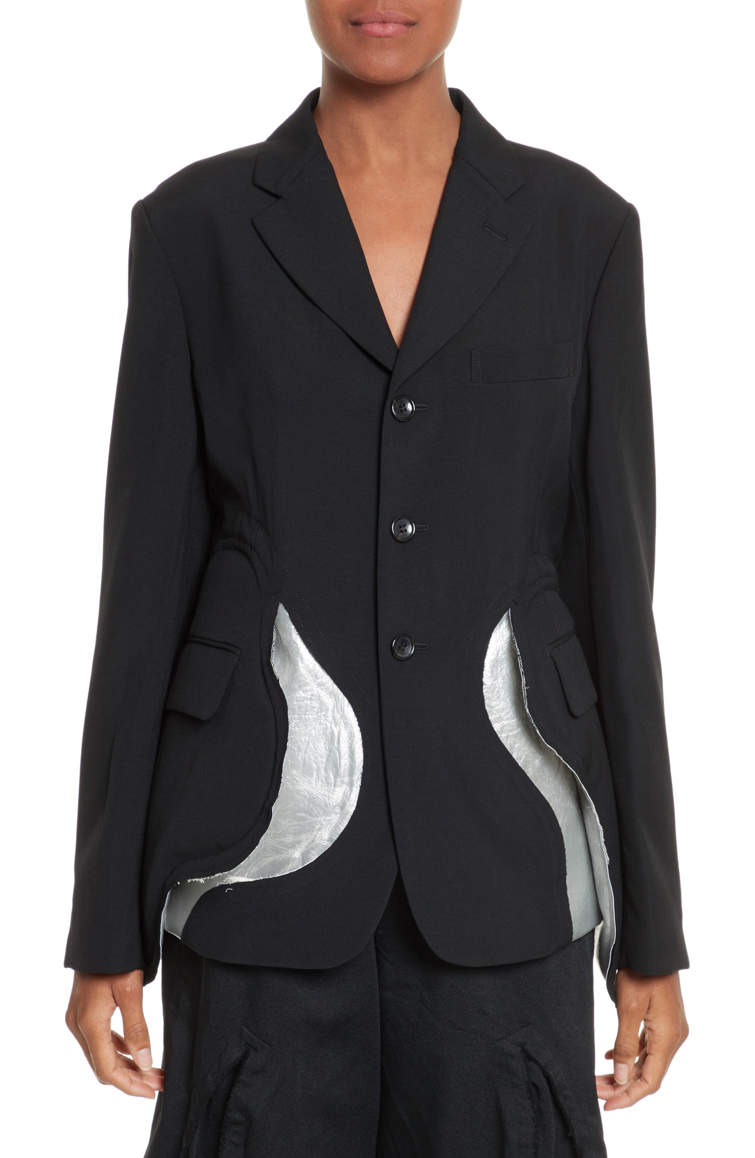 Cotton Jacket,                         Main,                         color, Black