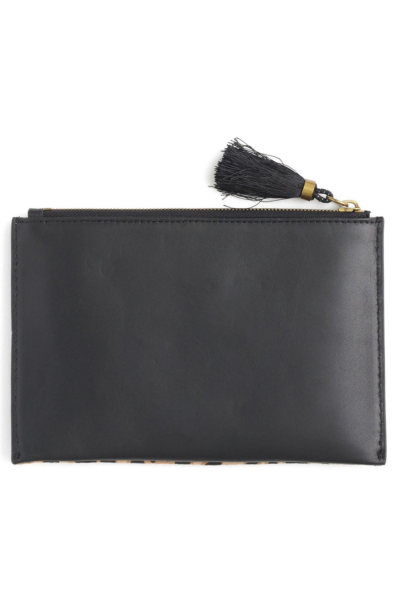 Alternate Image 2  - J.Crew Medium Genuine Calf Hair Pouch