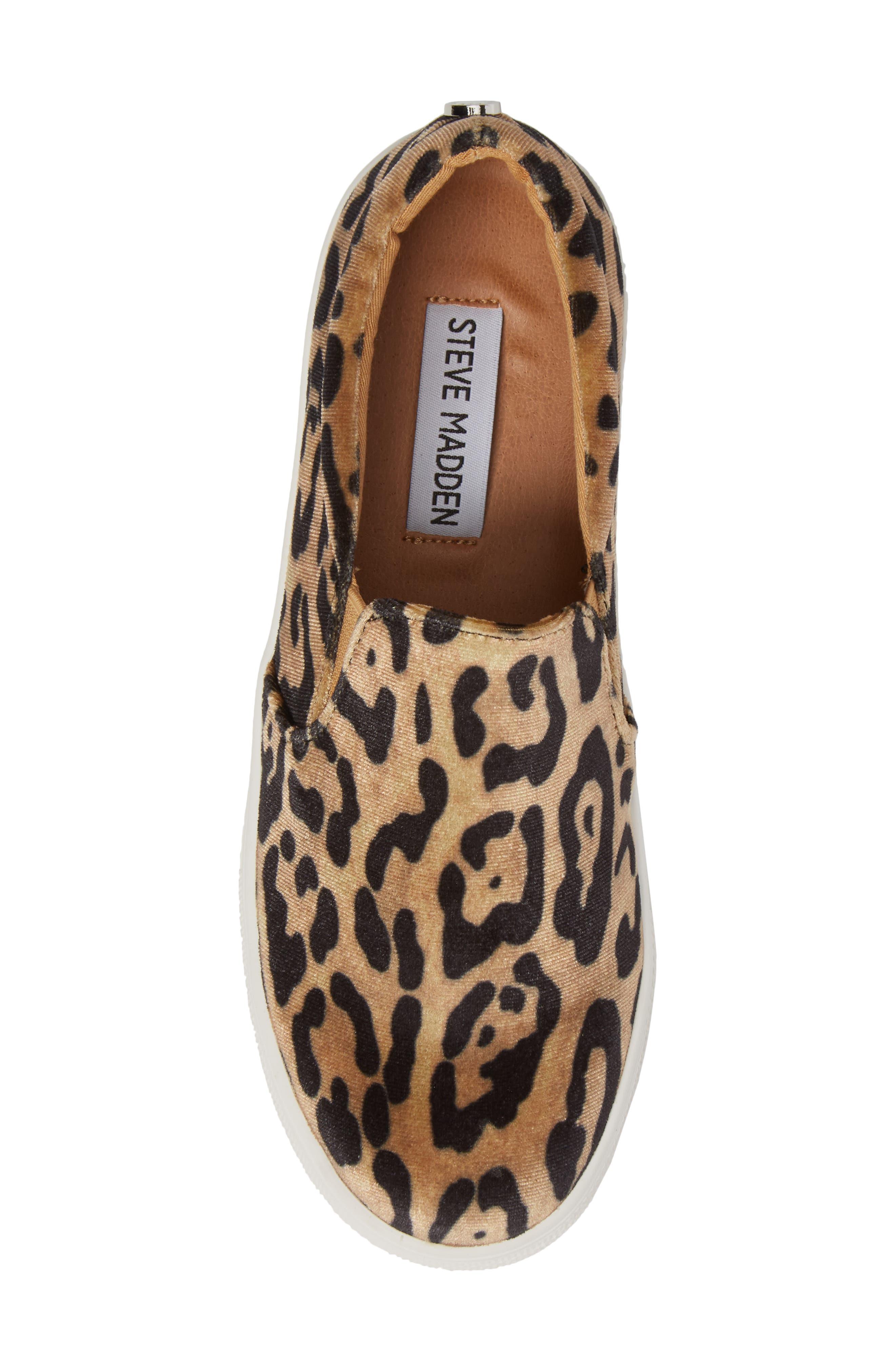 Gills Platform Slip-On Sneaker,                             Alternate thumbnail 5, color,                             Leopard