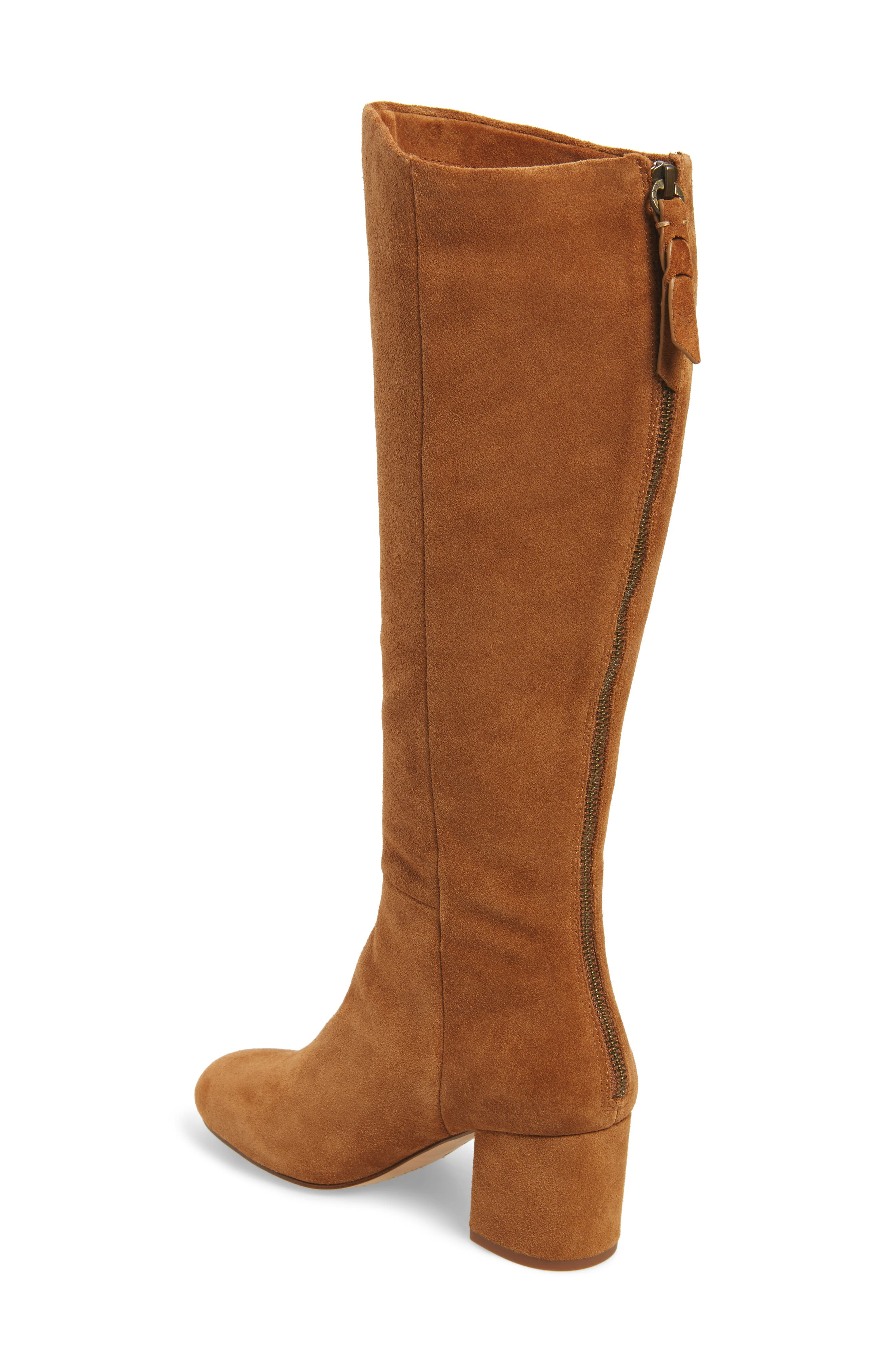 Danise Knee High Boot,                             Alternate thumbnail 2, color,                             Chestnut Suede