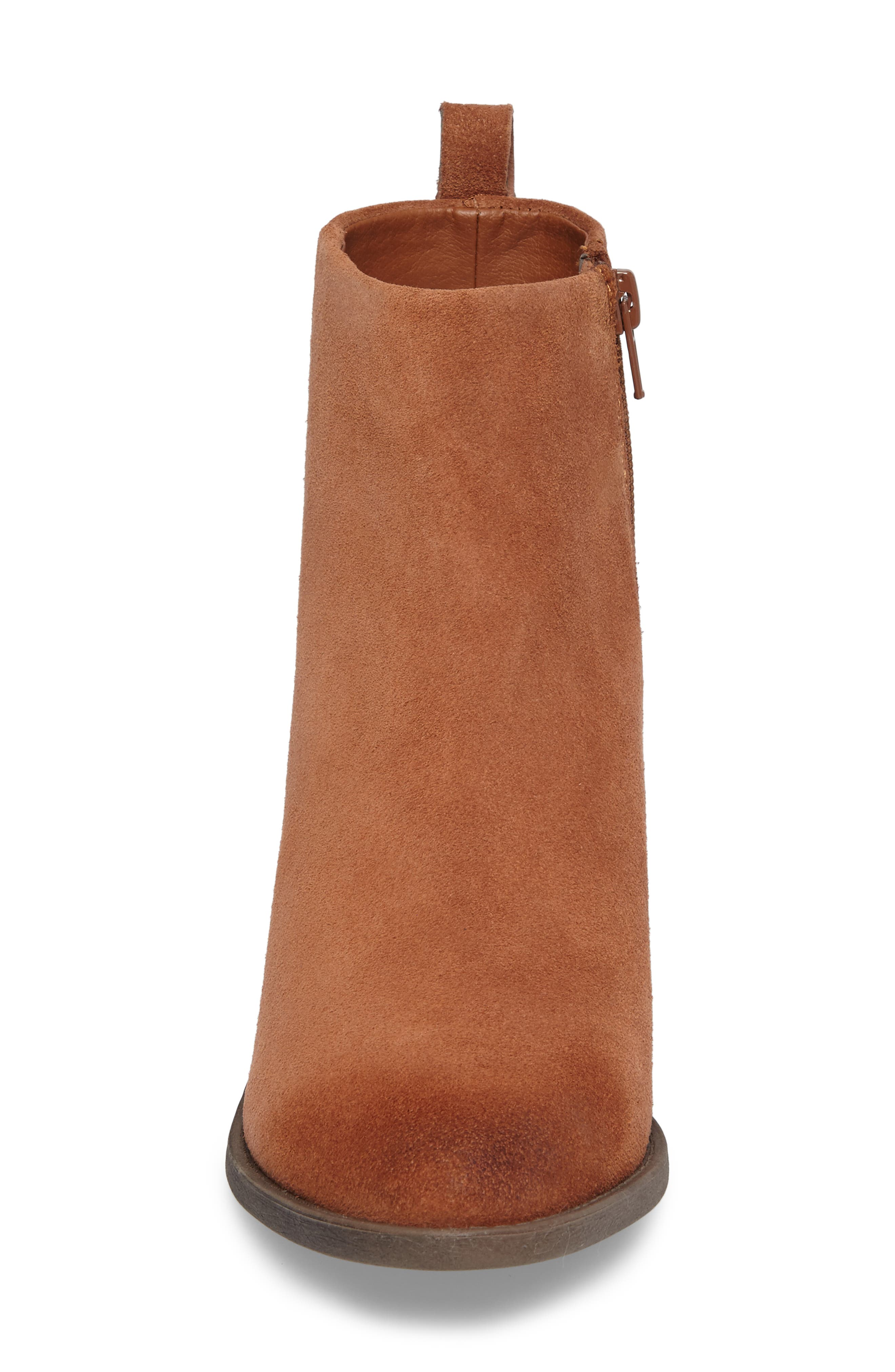Natania Bootie,                             Alternate thumbnail 4, color,                             Toffee Suede