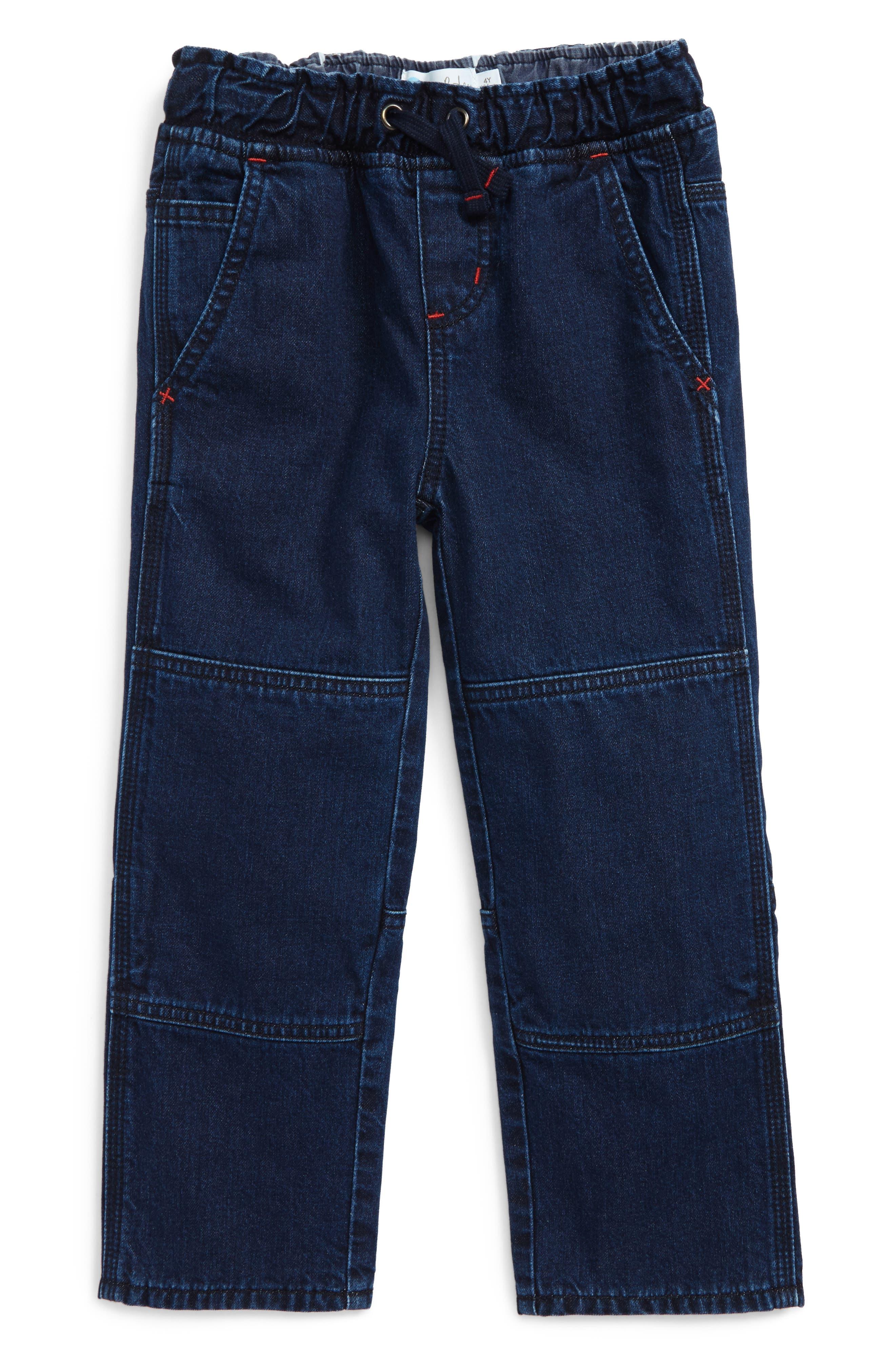 Mini Boden Denim Pull-On Pants (Toddler Boys, Little Boys & Big Boys)