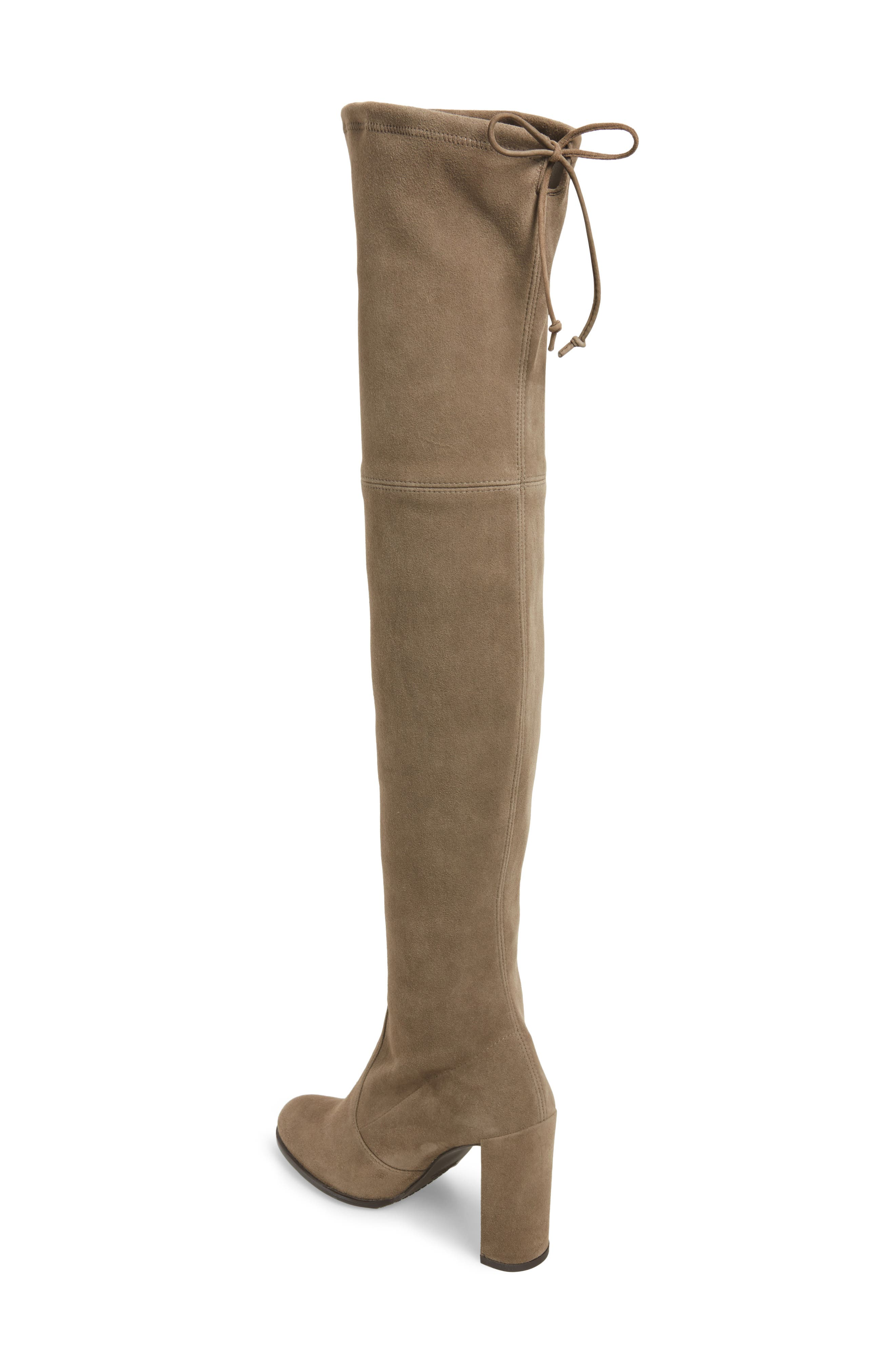Hiline Over the Knee Boot,                             Alternate thumbnail 2, color,                             Praline Suede