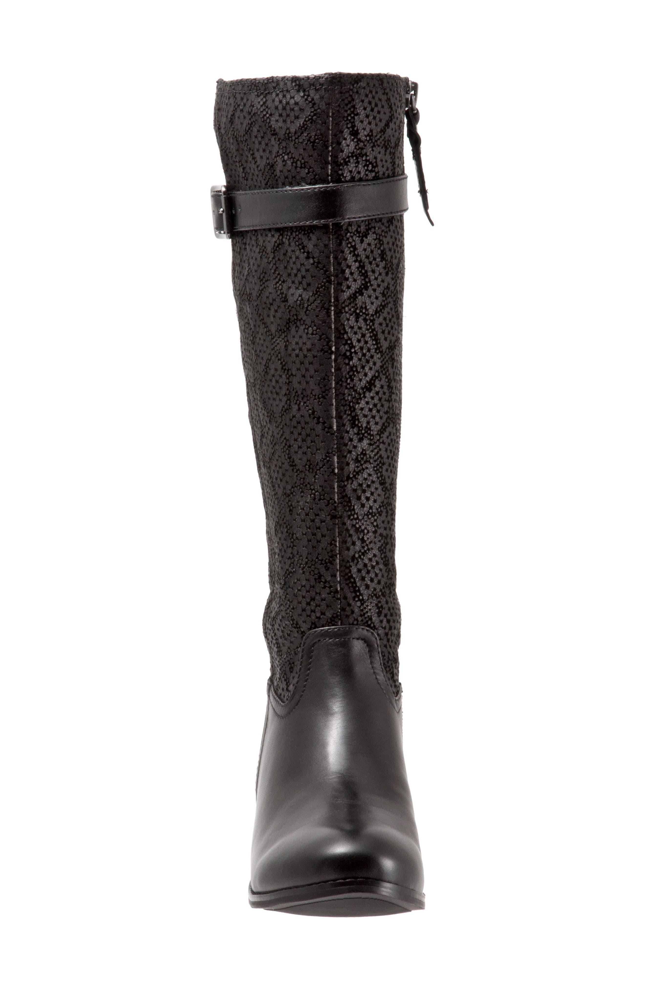 Lyra Tall Boot,                             Alternate thumbnail 4, color,                             Black