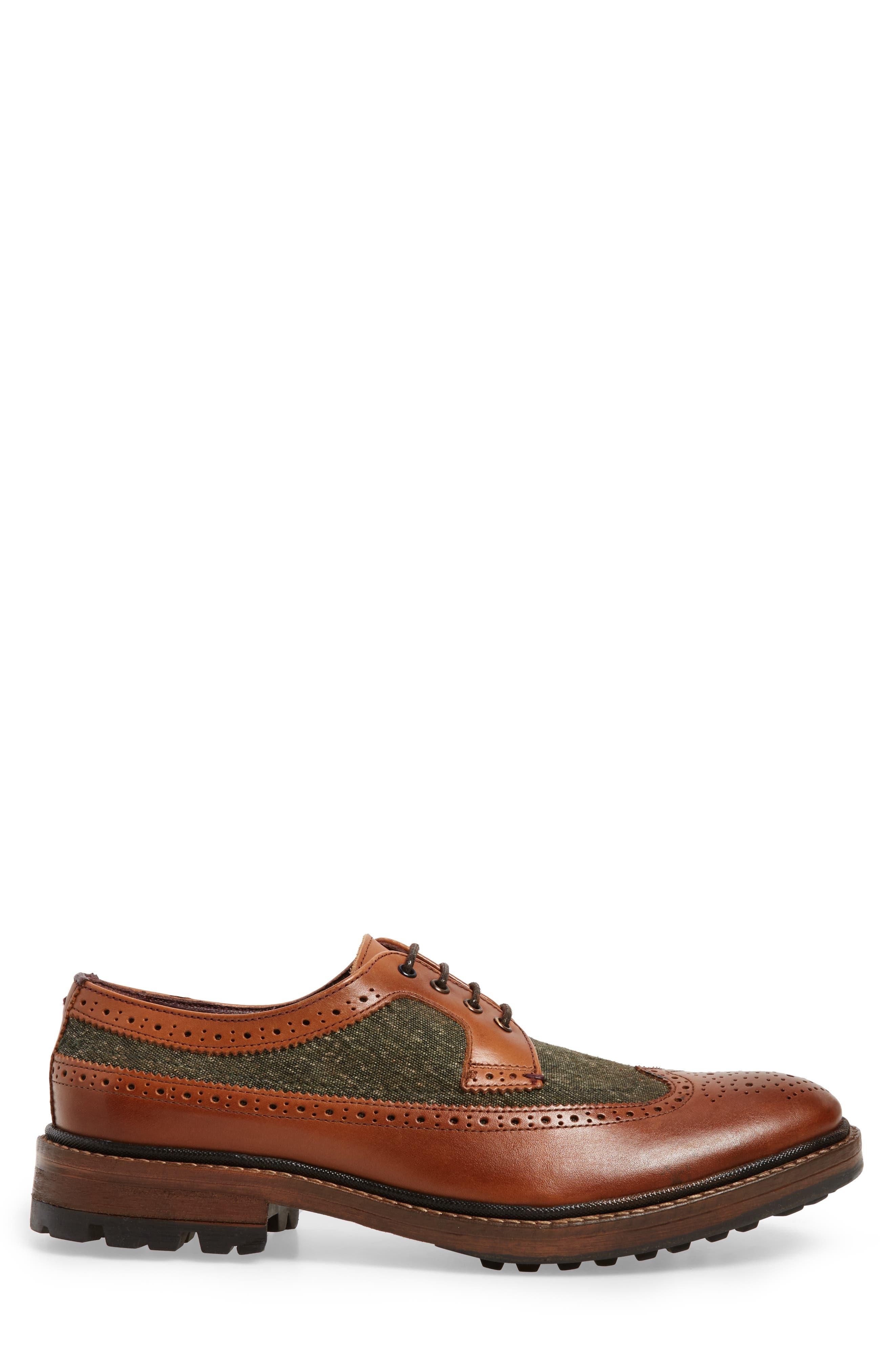 Casbo Spectator Shoe,                             Alternate thumbnail 3, color,                             Tan Multi Leather