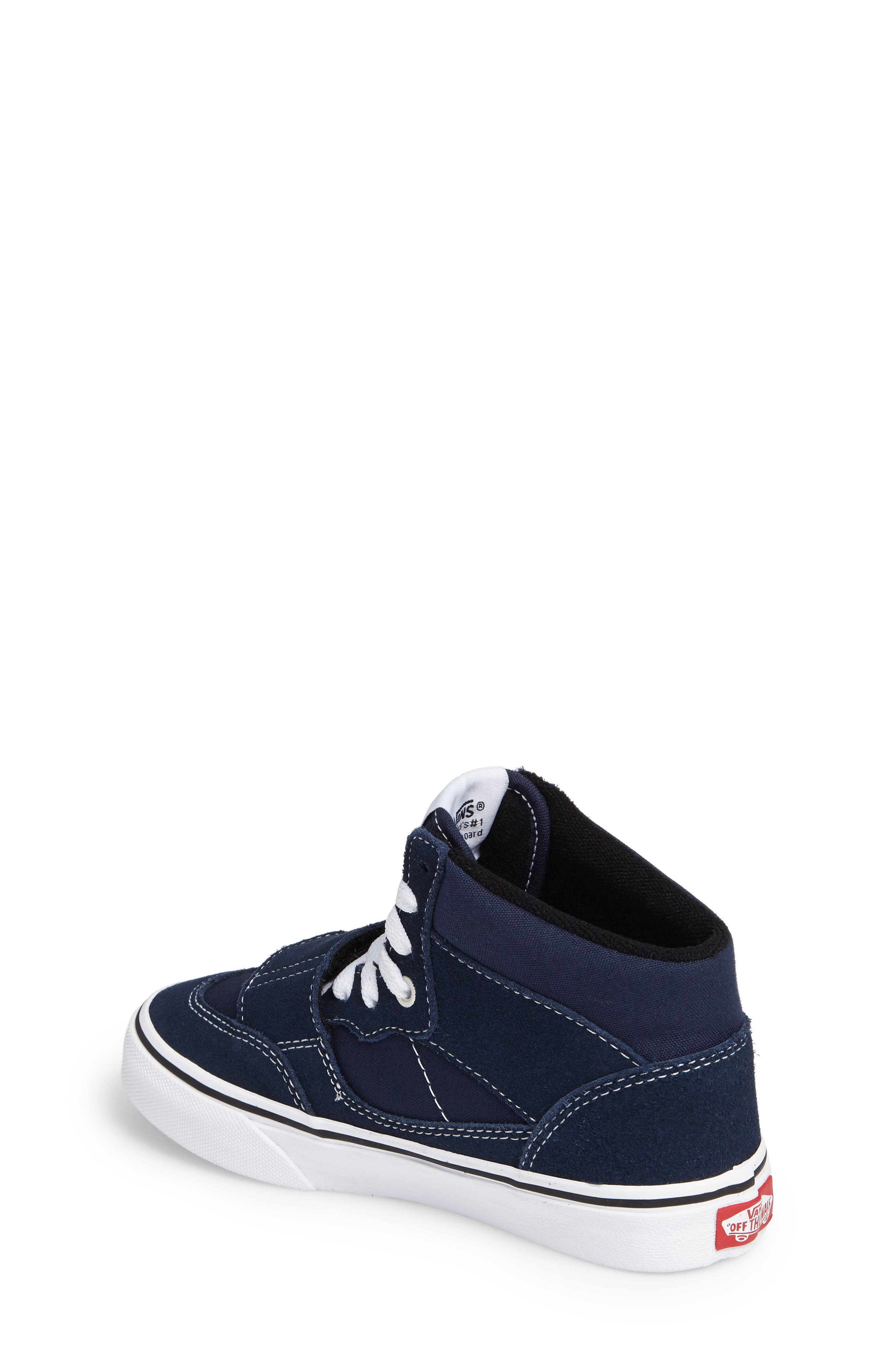 Mountain Edition Mid Top Sneaker,                             Alternate thumbnail 2, color,                             Dress Blue Canvas/ Suede