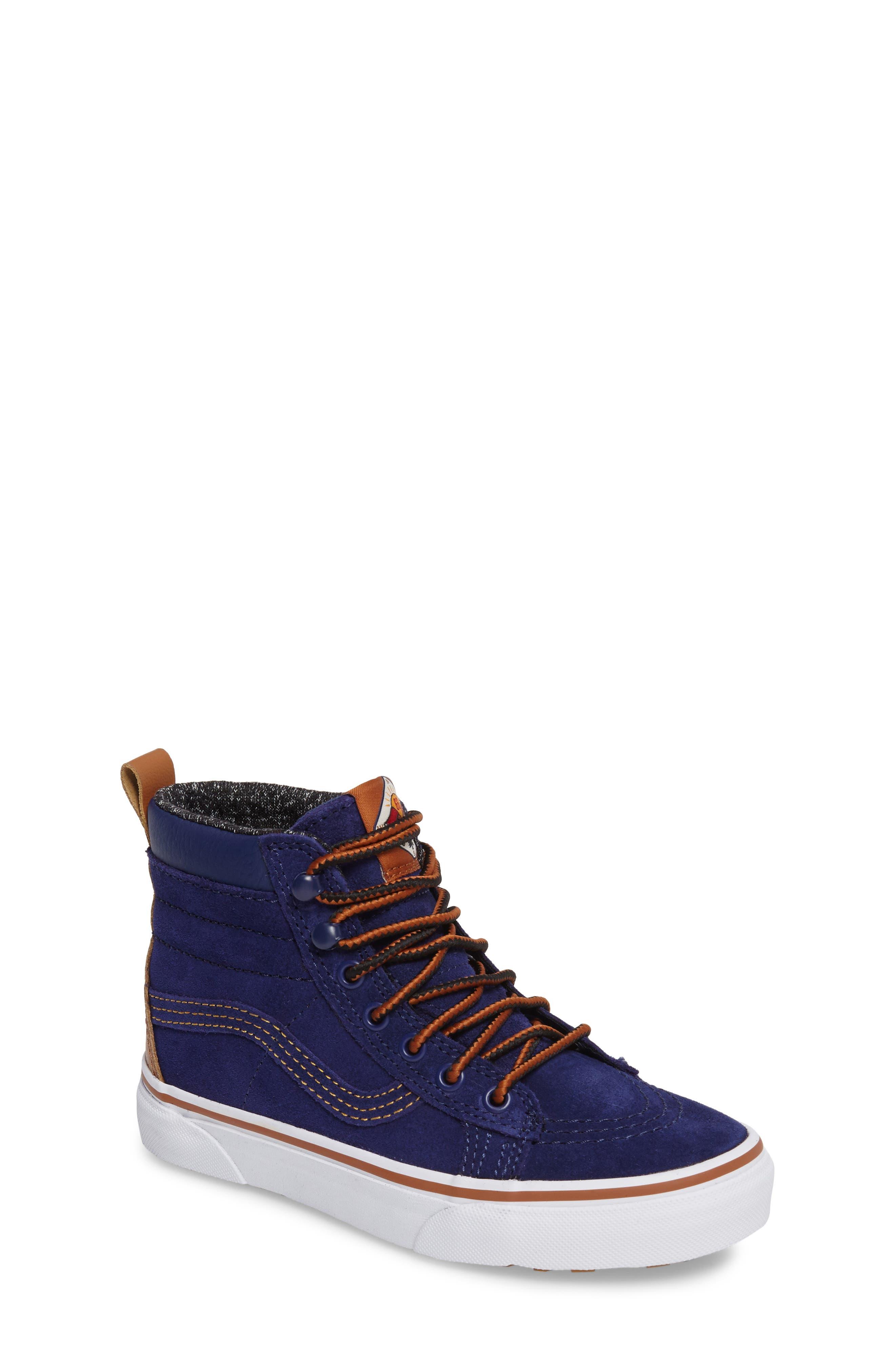 SK8-Hi Sneaker,                         Main,                         color, Blue Depths Metallic