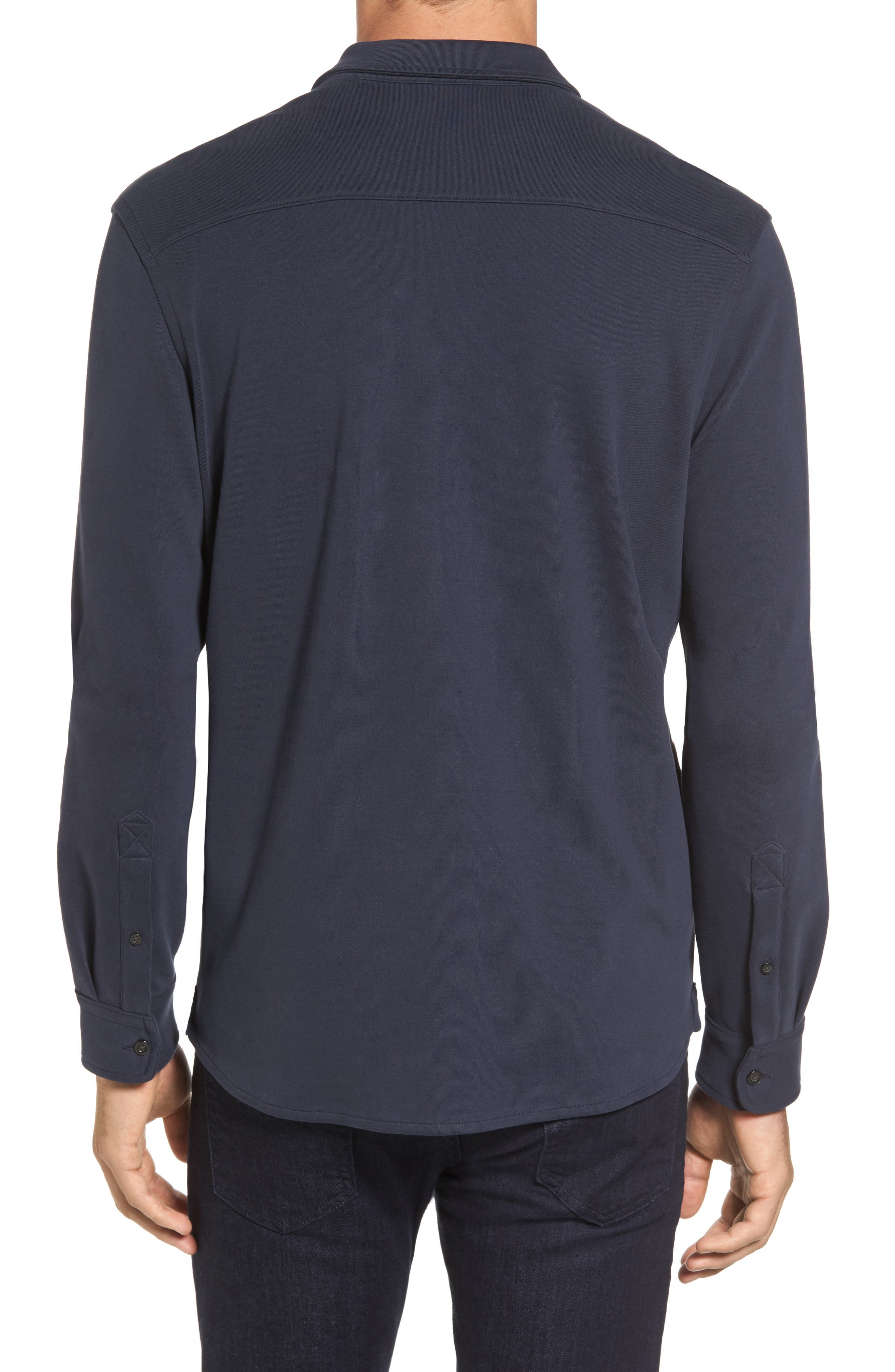 Alternate Image 2  - Michael Bastian Trim Fit Pima Cotton Knit Sport Shirt