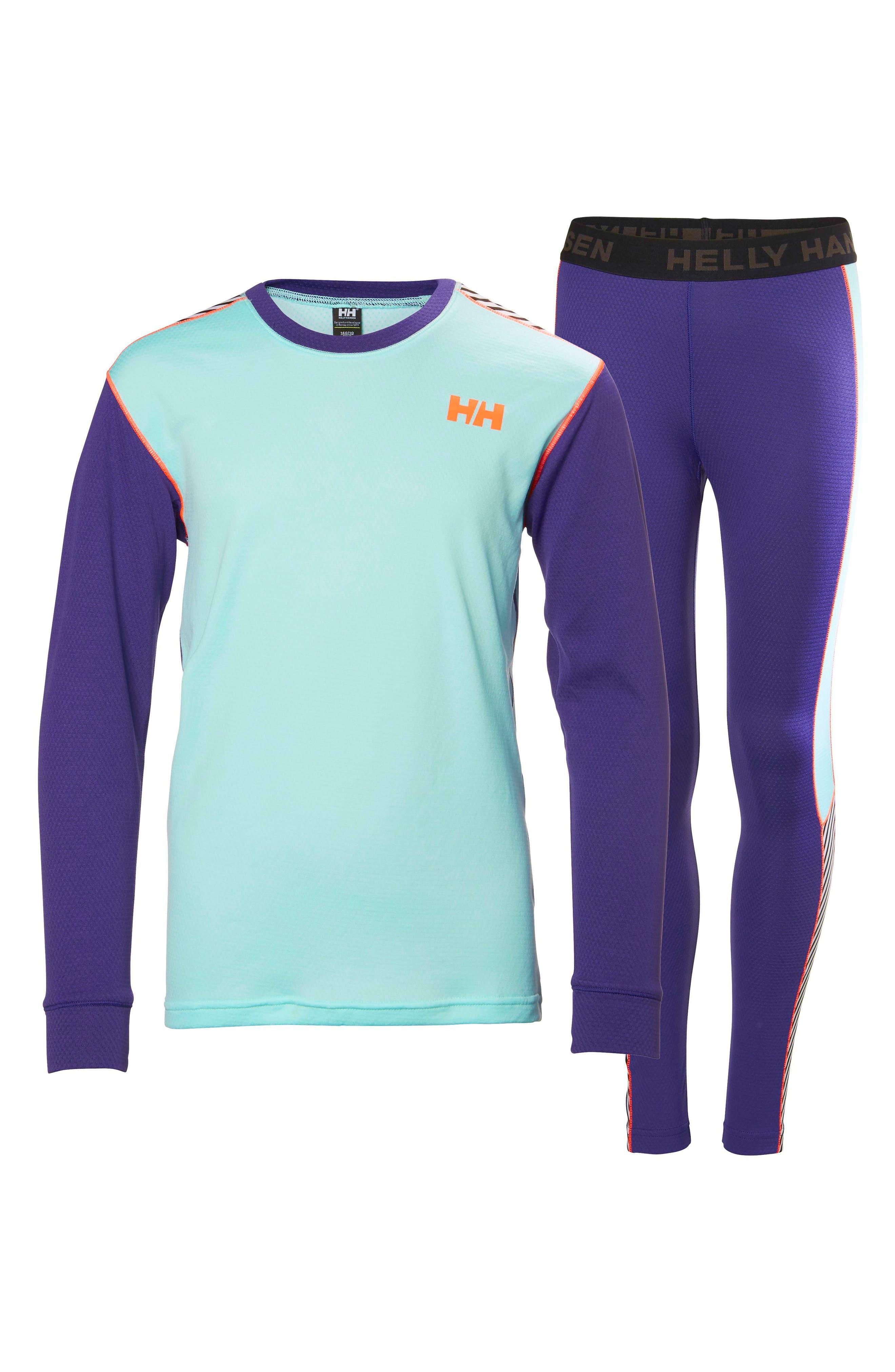 Helly Hansen 'HH® Active' Base Layer Top & Pants (Big Girls)