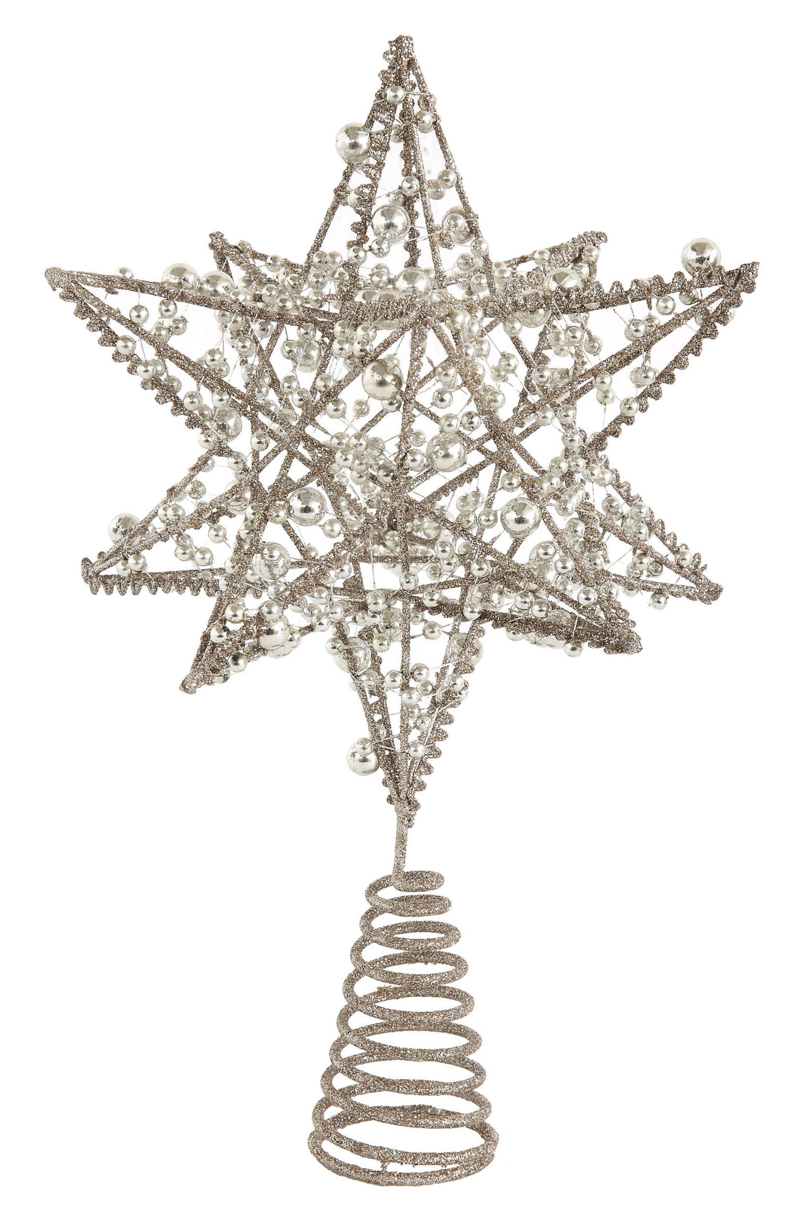 Wire Star Tree Topper,                             Main thumbnail 1, color,                             Silver