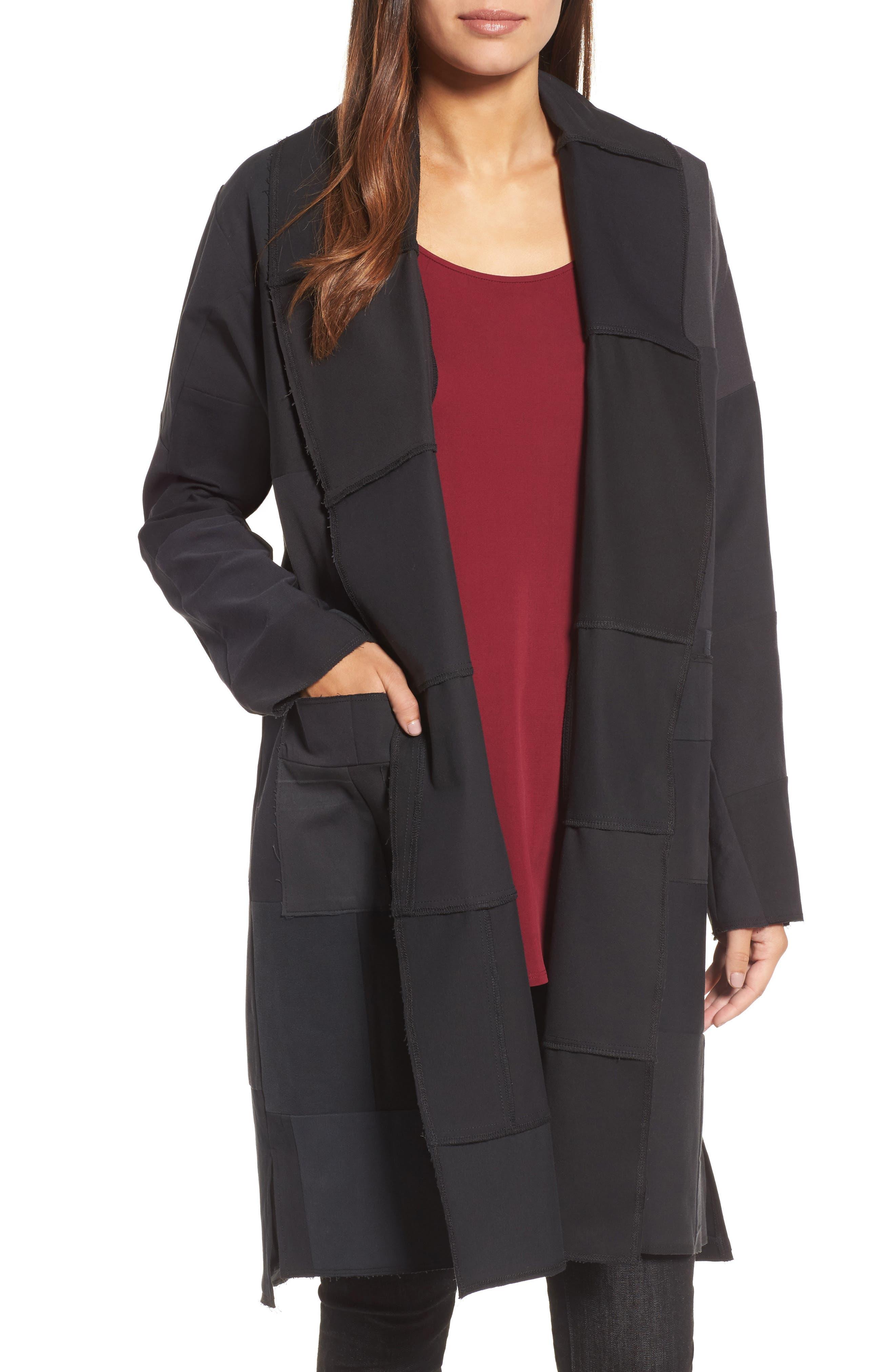 Long Kimono Jacket,                         Main,                         color, Black