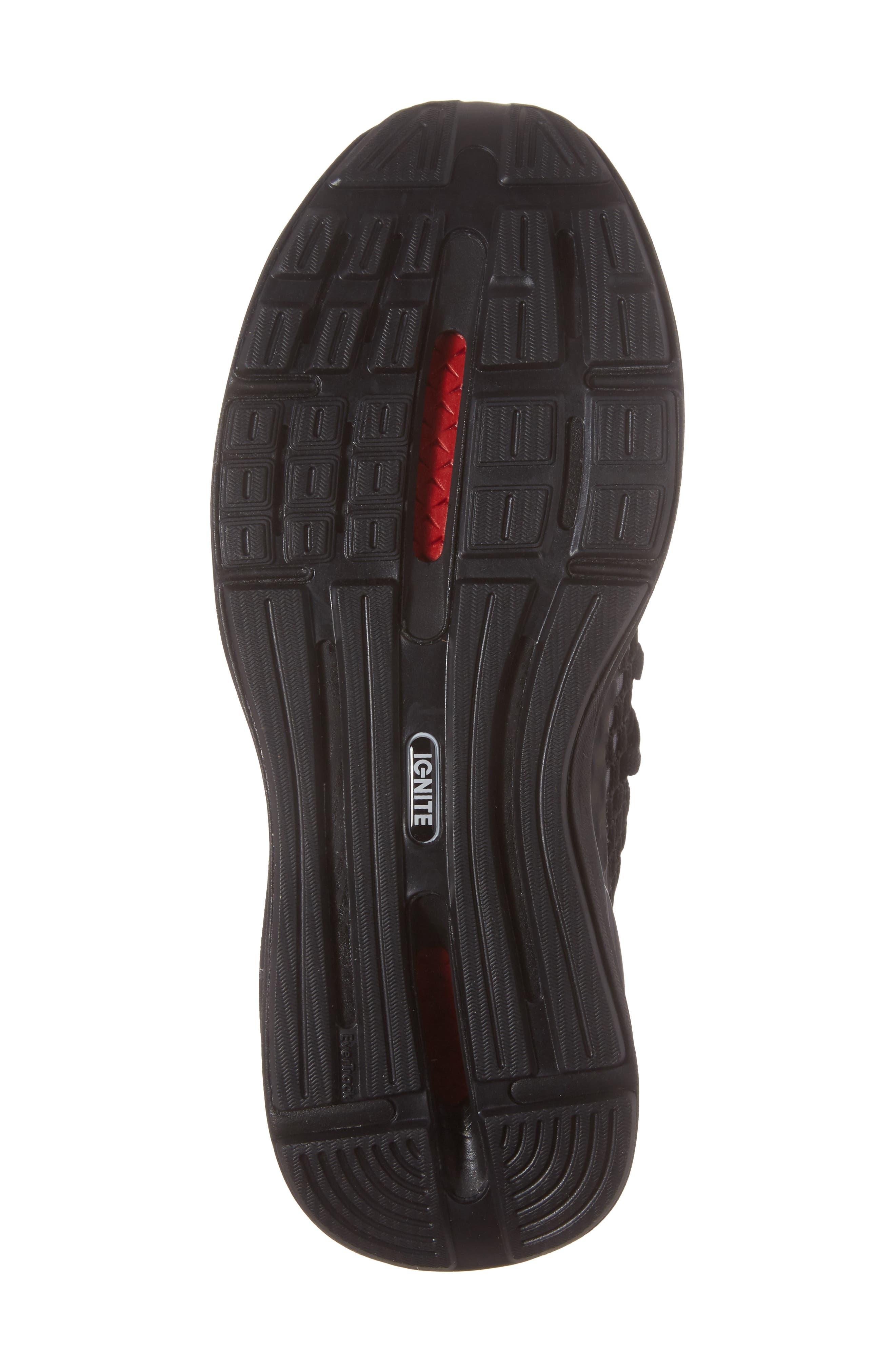 Ignite Limitless Netfit Running Shoe,                             Alternate thumbnail 4, color,                             Black/ Silver