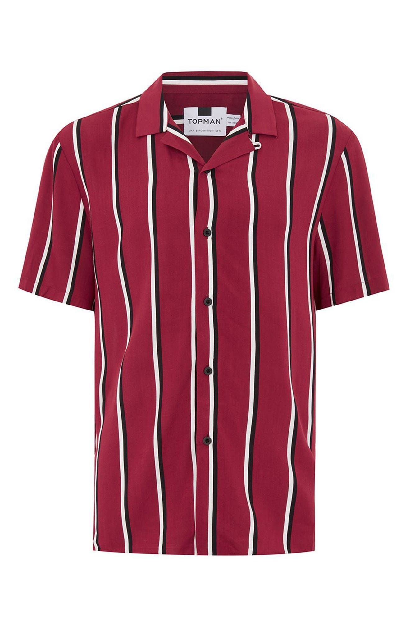 Alternate Image 4  - Topman Stripe Revere Shirt