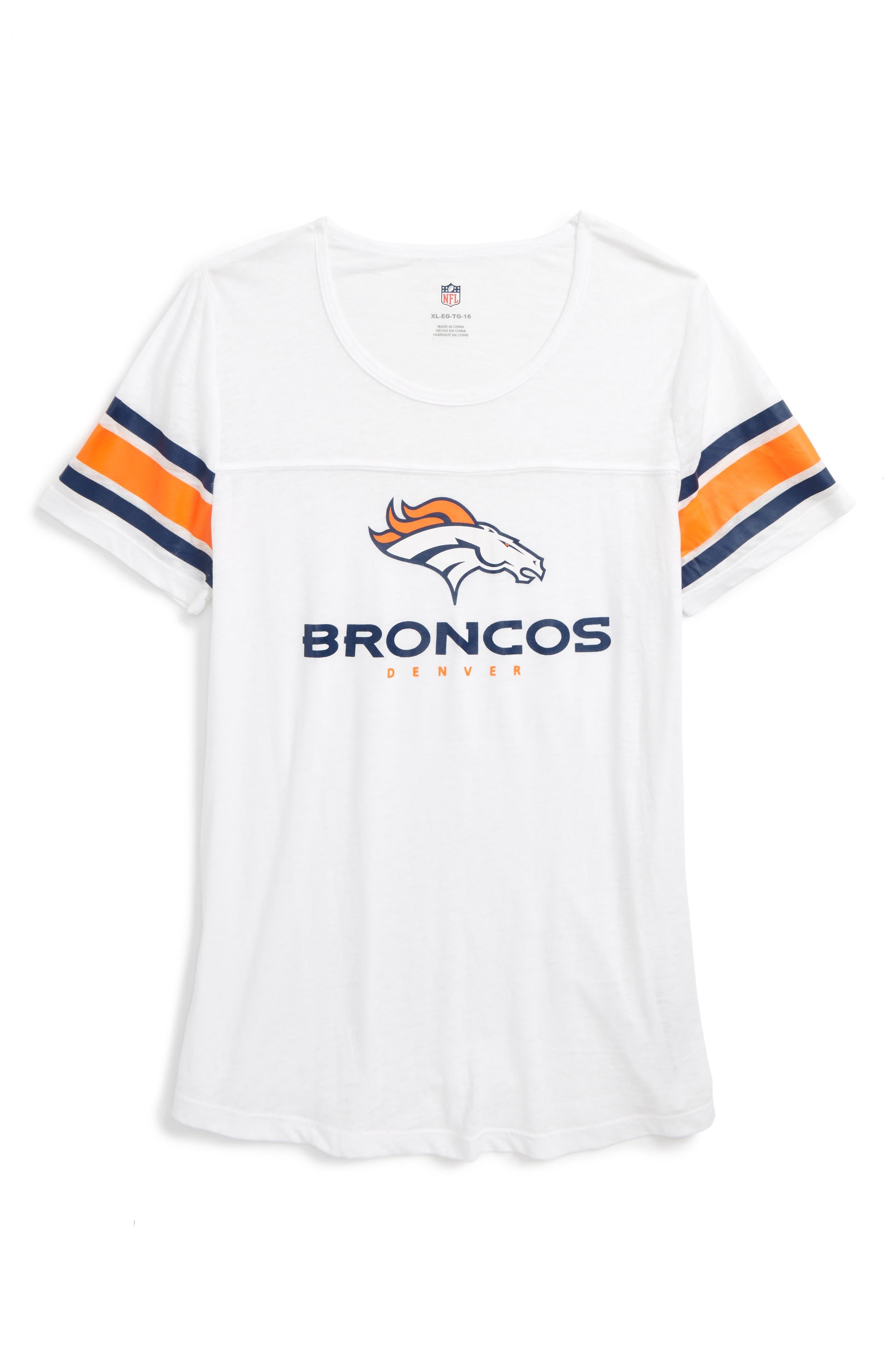 NFL Denver Broncos Team Pride Tee,                             Main thumbnail 1, color,                             Orange