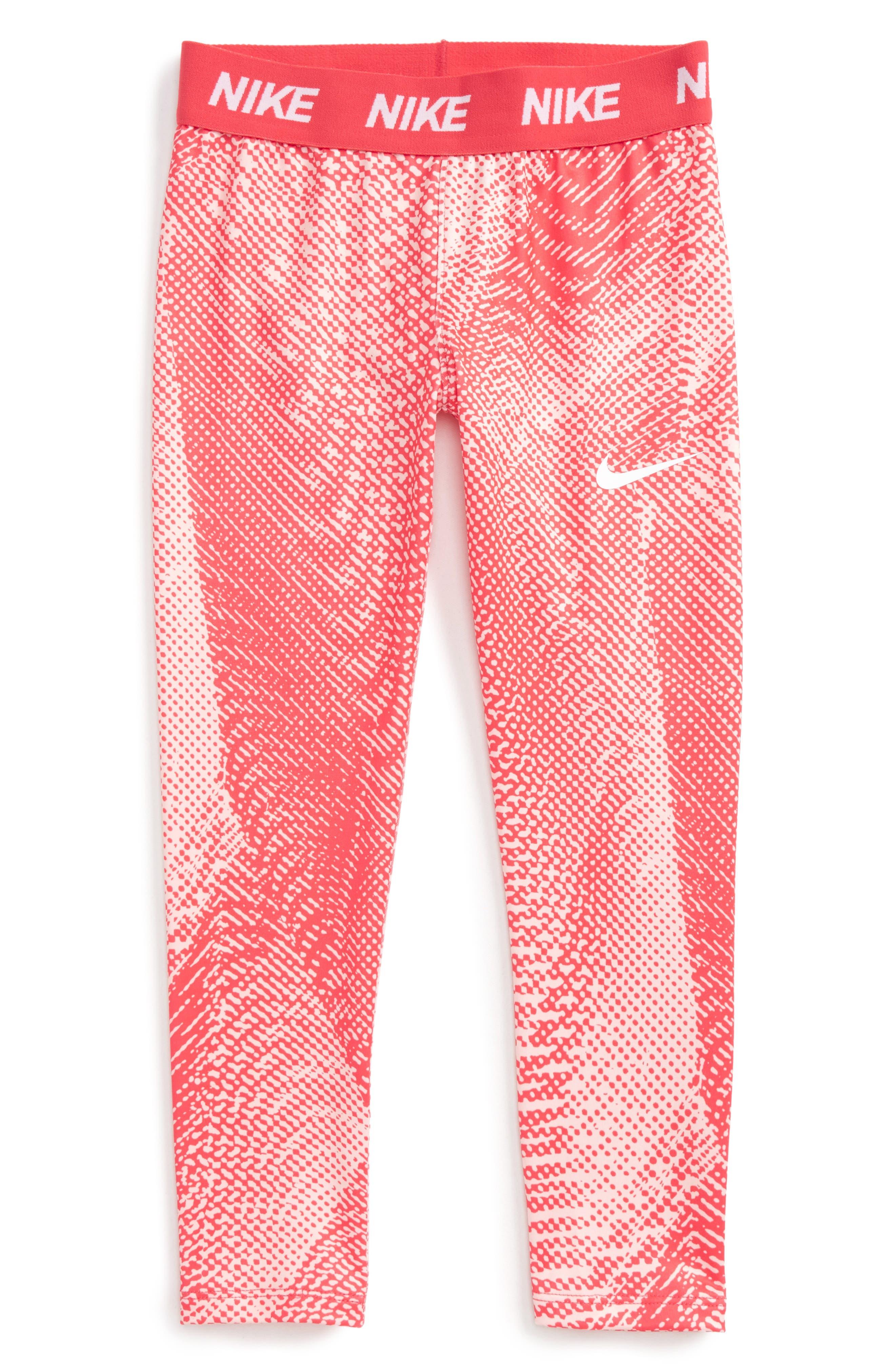 Dri-FIT Leggings,                         Main,                         color, Fusion Red