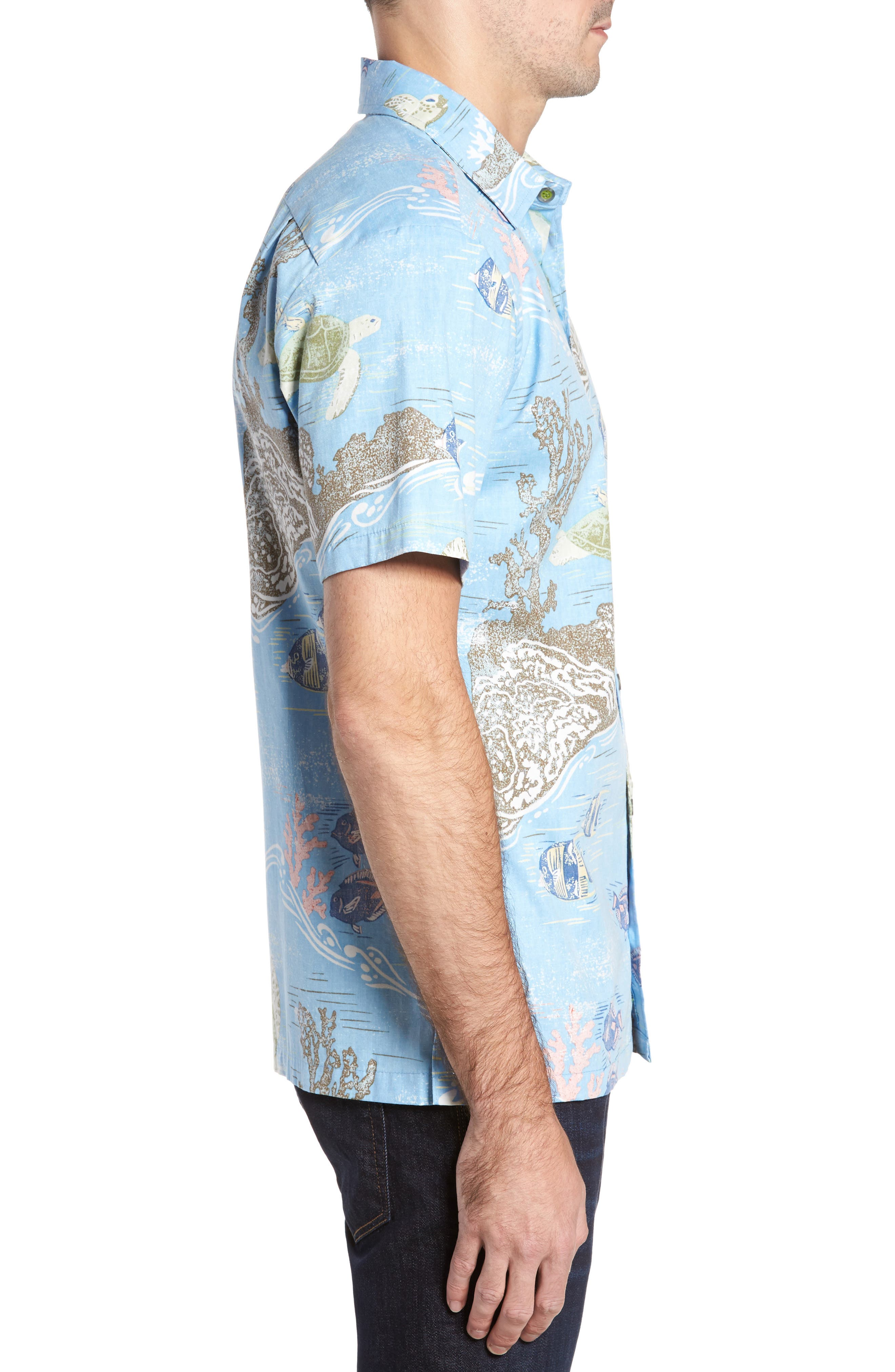 Alternate Image 3  - Kahala Laupapa Slim Fit Camp Shirt