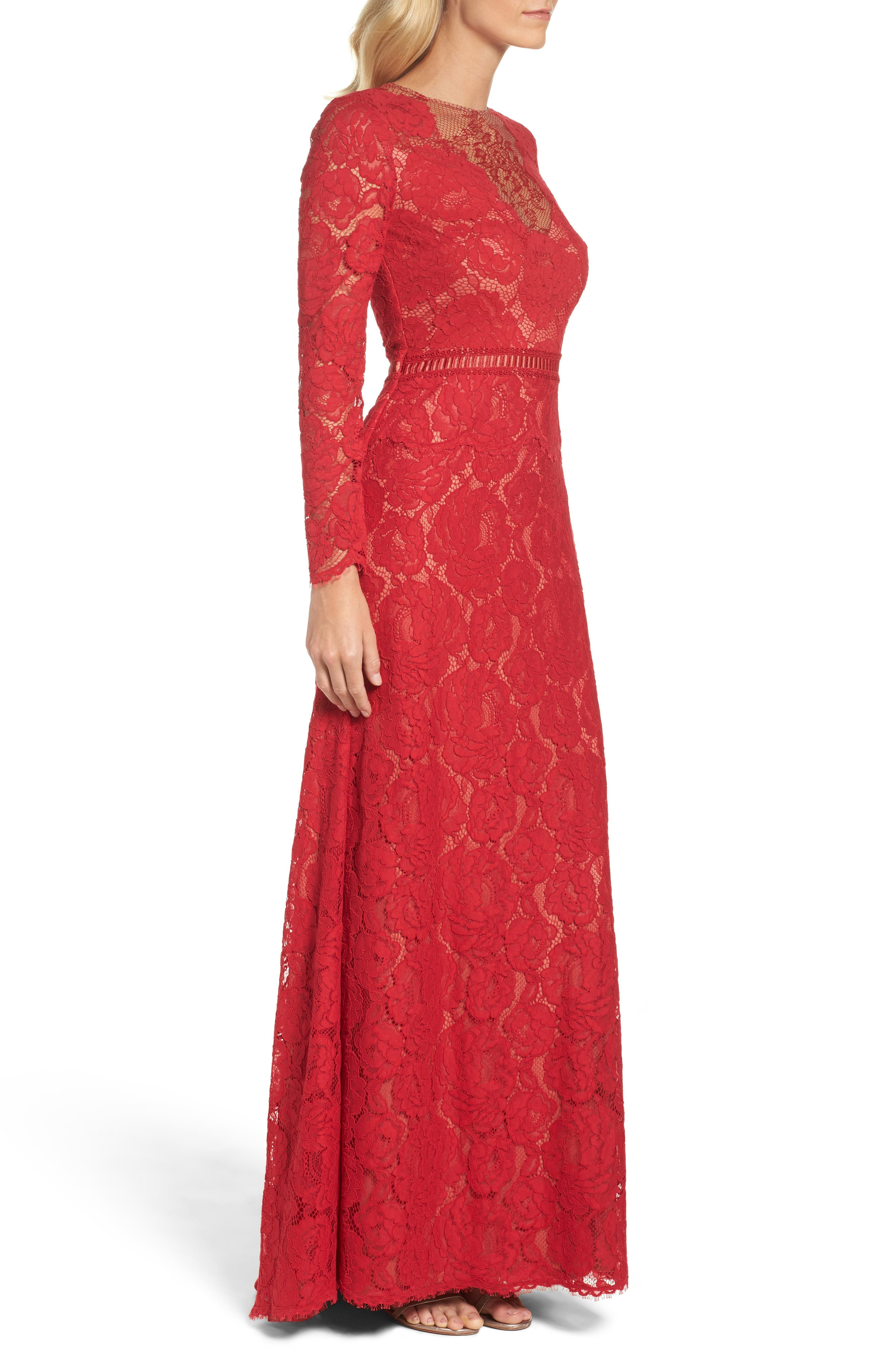 Alternate Image 3  - Tadashi Shoji Corded Lace Gown