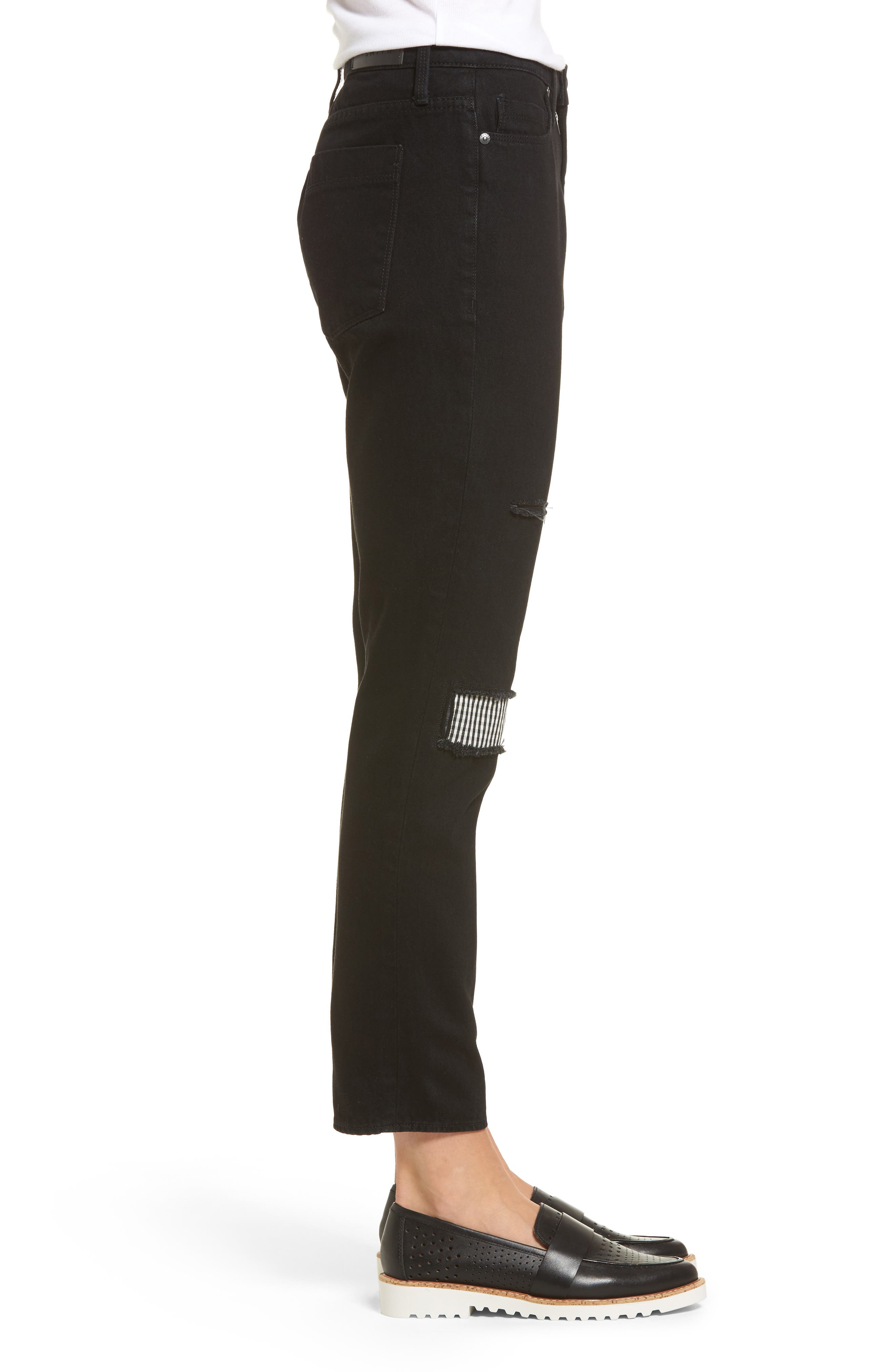 Alternate Image 3  - PARKER SMITH Anti-Fit Ankle Straight Jeans (Black Magic)