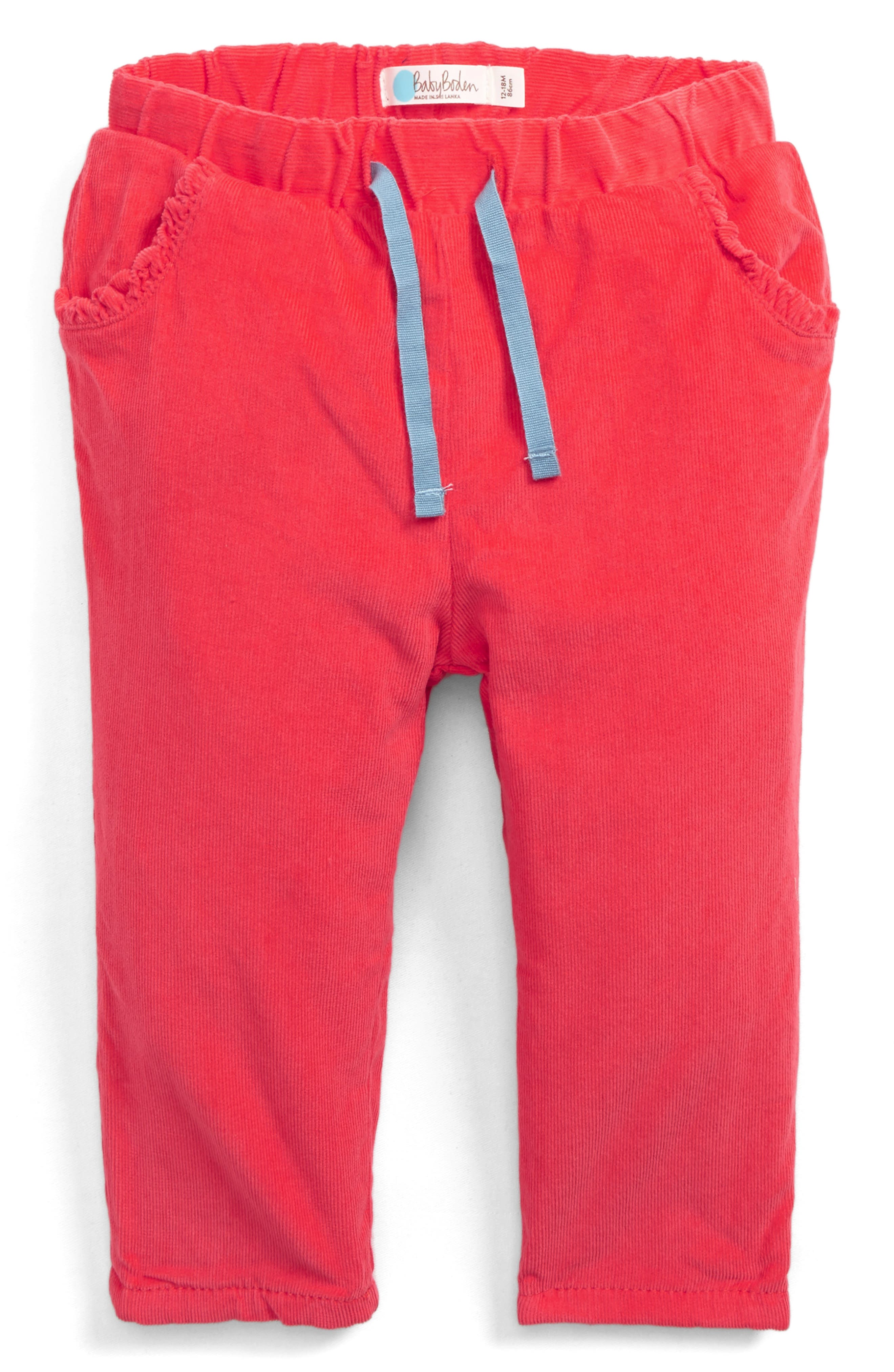 Corduroy Pants,                         Main,                         color, Jam Red