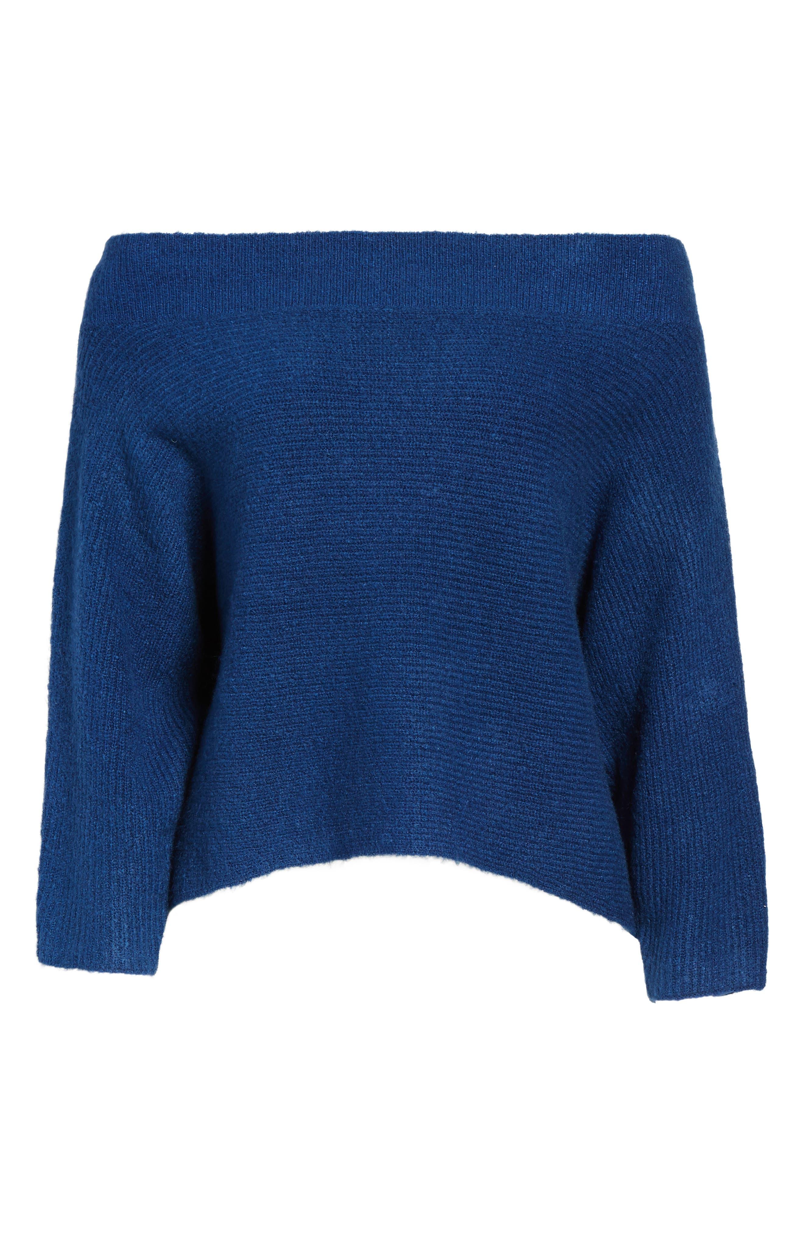 Dolman Sleeve Sweater,                             Alternate thumbnail 6, color,                             Blue Estate