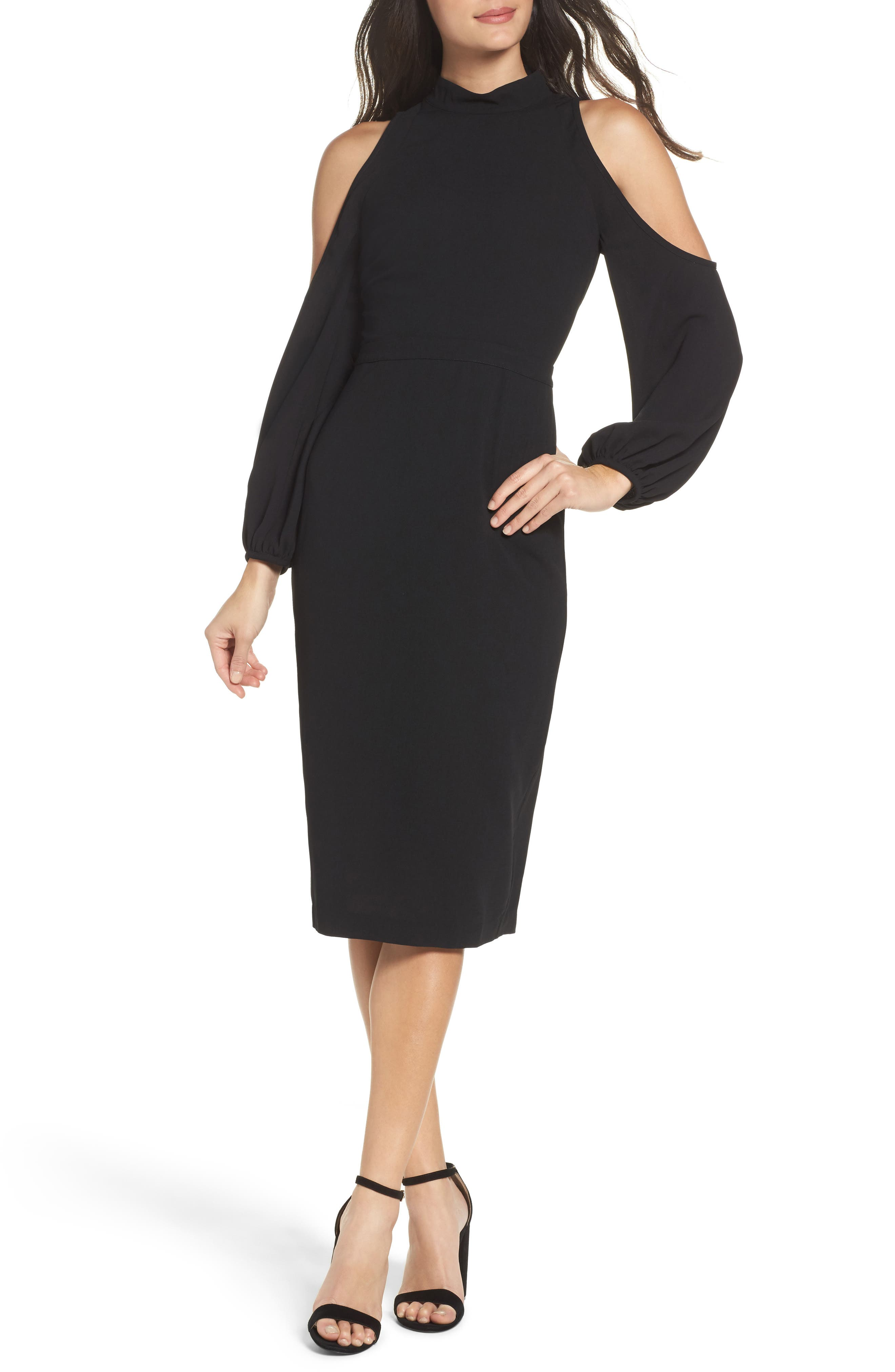 Ali & Jay Power Shoulder Sheath Dress