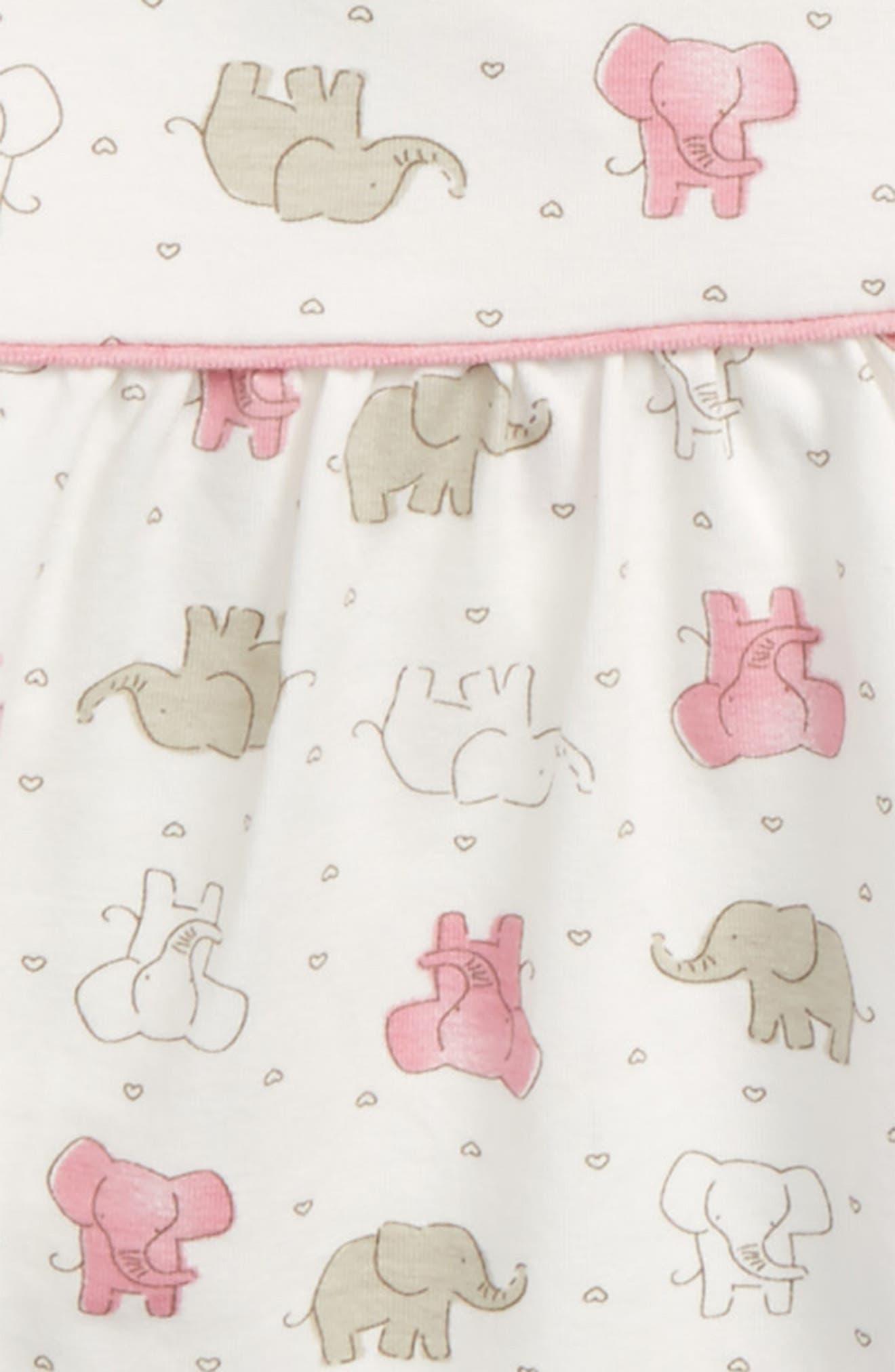 Pink Elephant Tunic & Leggings Set,                             Alternate thumbnail 2, color,                             Ivory Multi