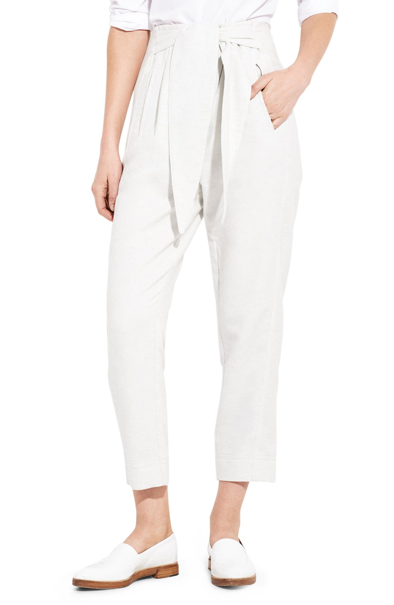 The Lover Ankle Straight Leg Pants,                         Main,                         color, Light Grey