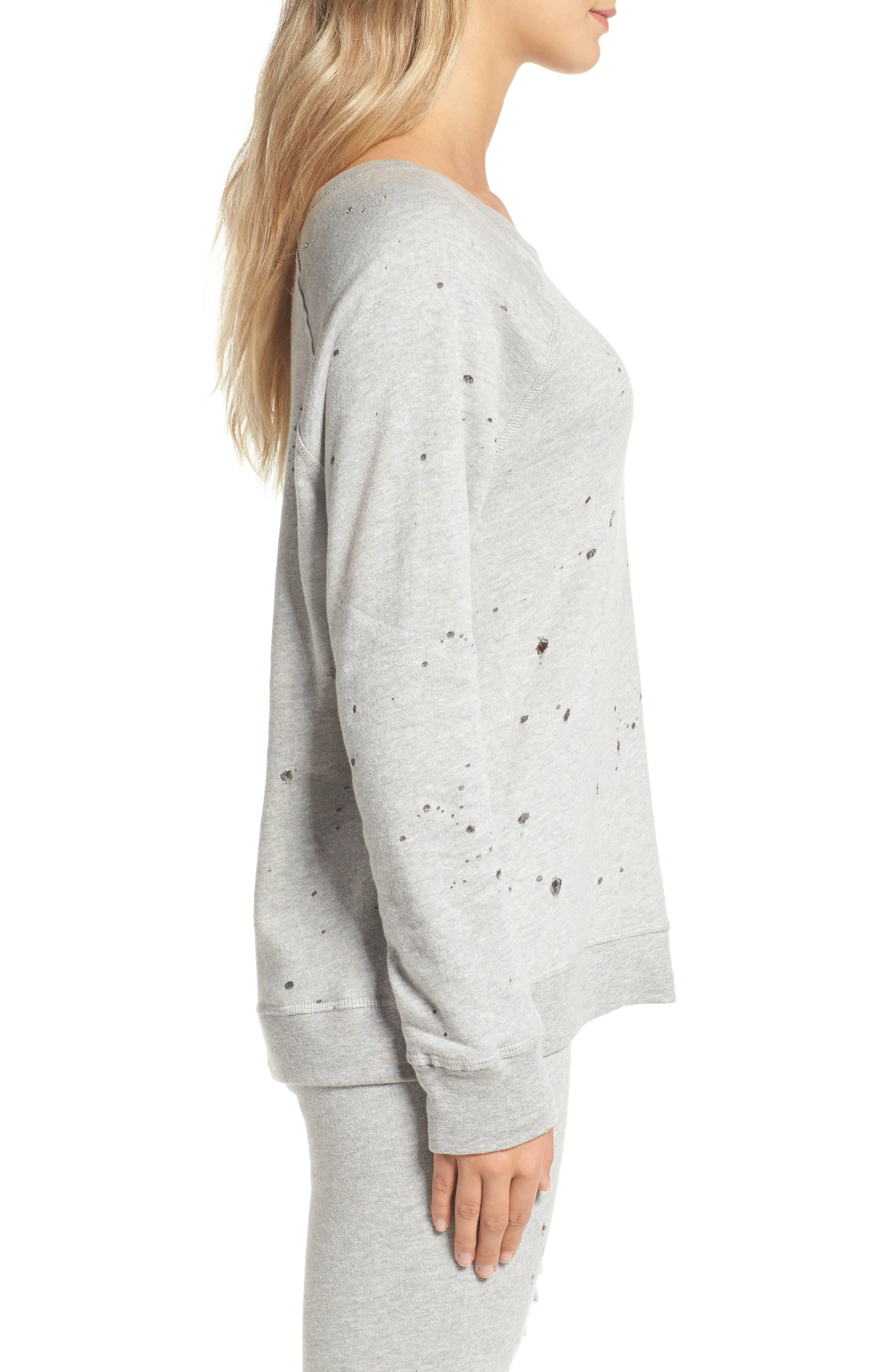 Alternate Image 3  - Michael Lauren Destroyed Lounge Sweatshirt