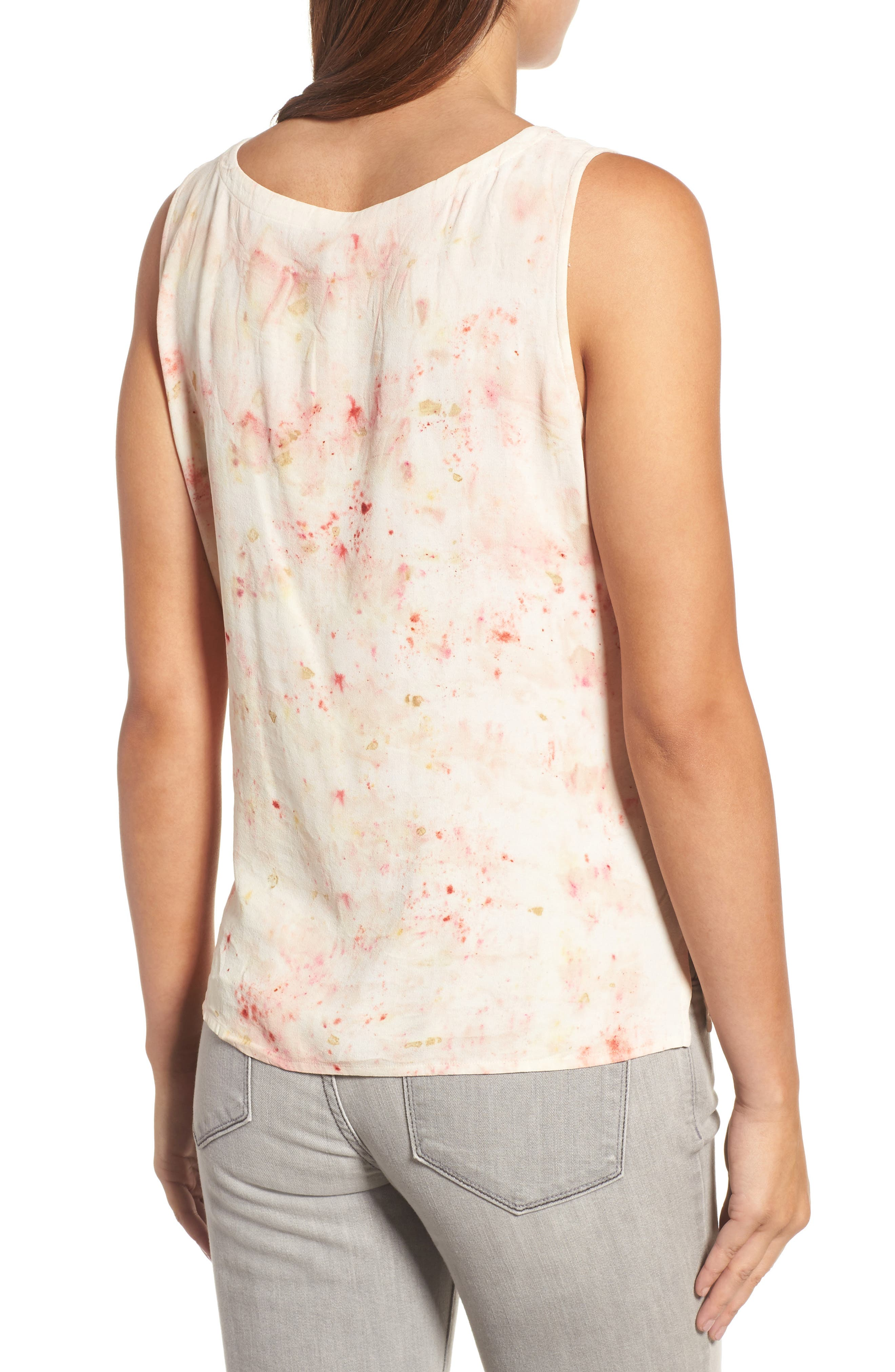 Alternate Image 2  - Eileen Fisher Overdyed Silk Shell (Nordstrom Exclusive)