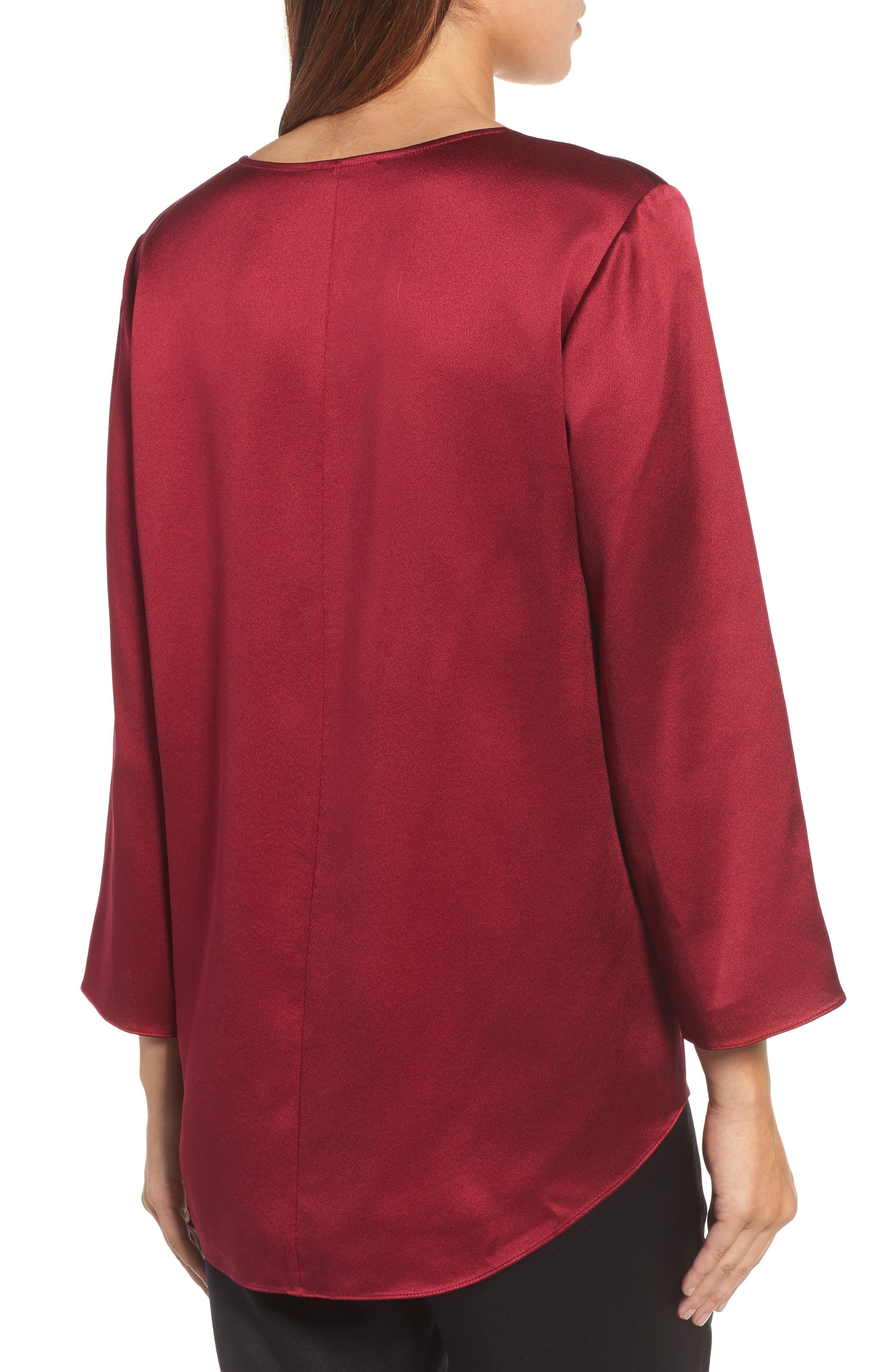 Alternate Image 2  - Eileen Fisher U-Neck Silk Top