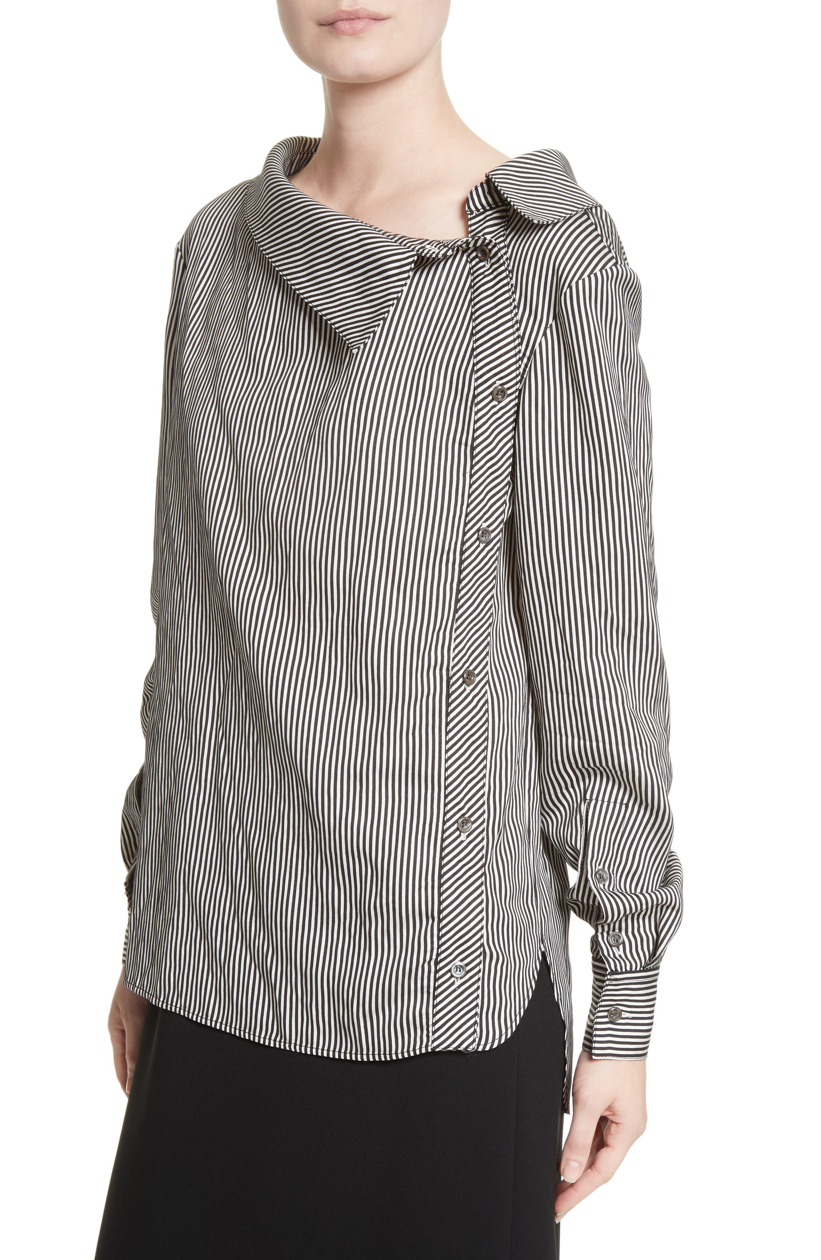 Alternate Image 4  - Altuzarra Asymmetrical Pinstripe Shirt