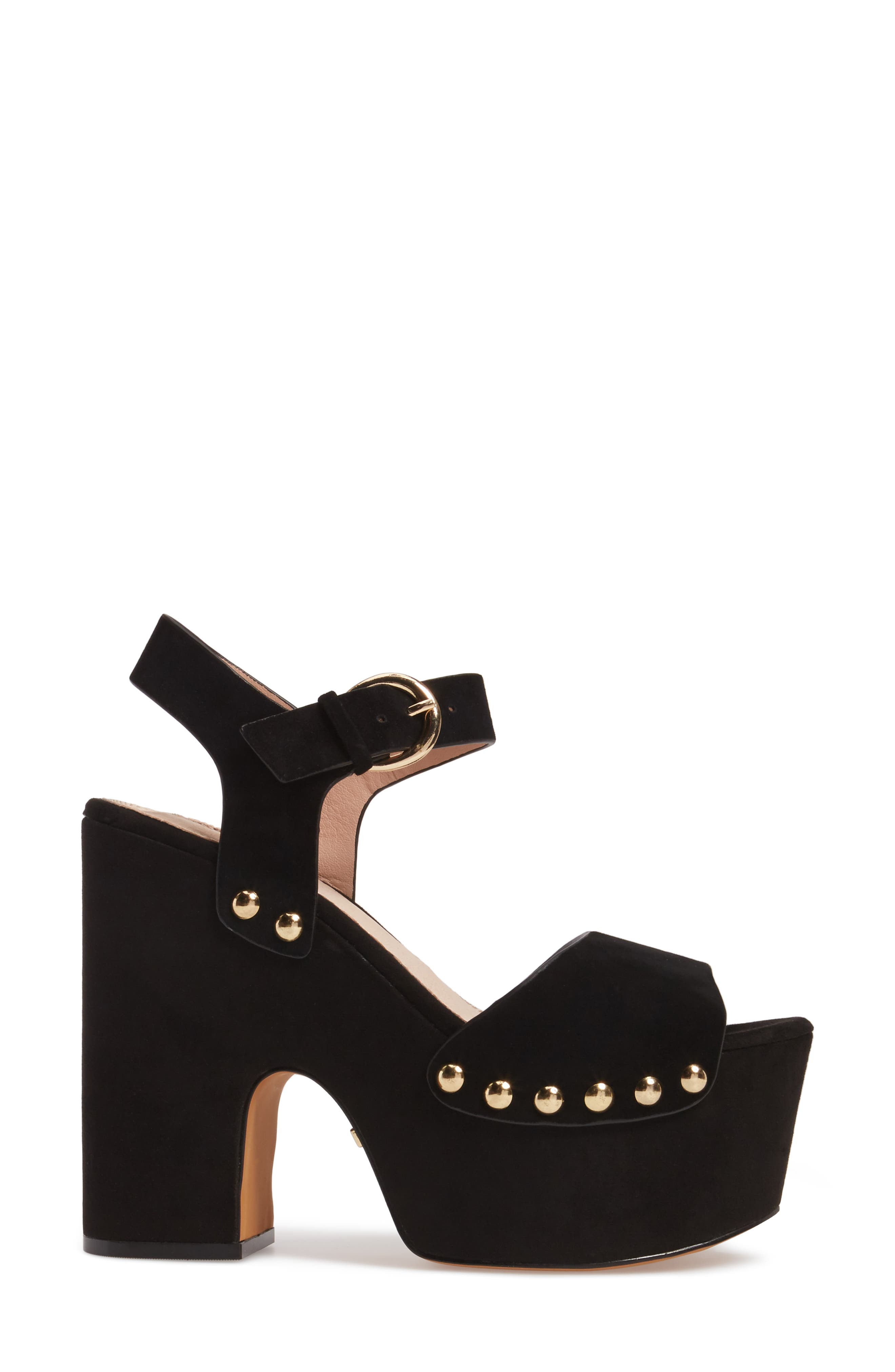 Alternate Image 3  - Topshop Lourdes Embroidered Platform Sandal (Women)