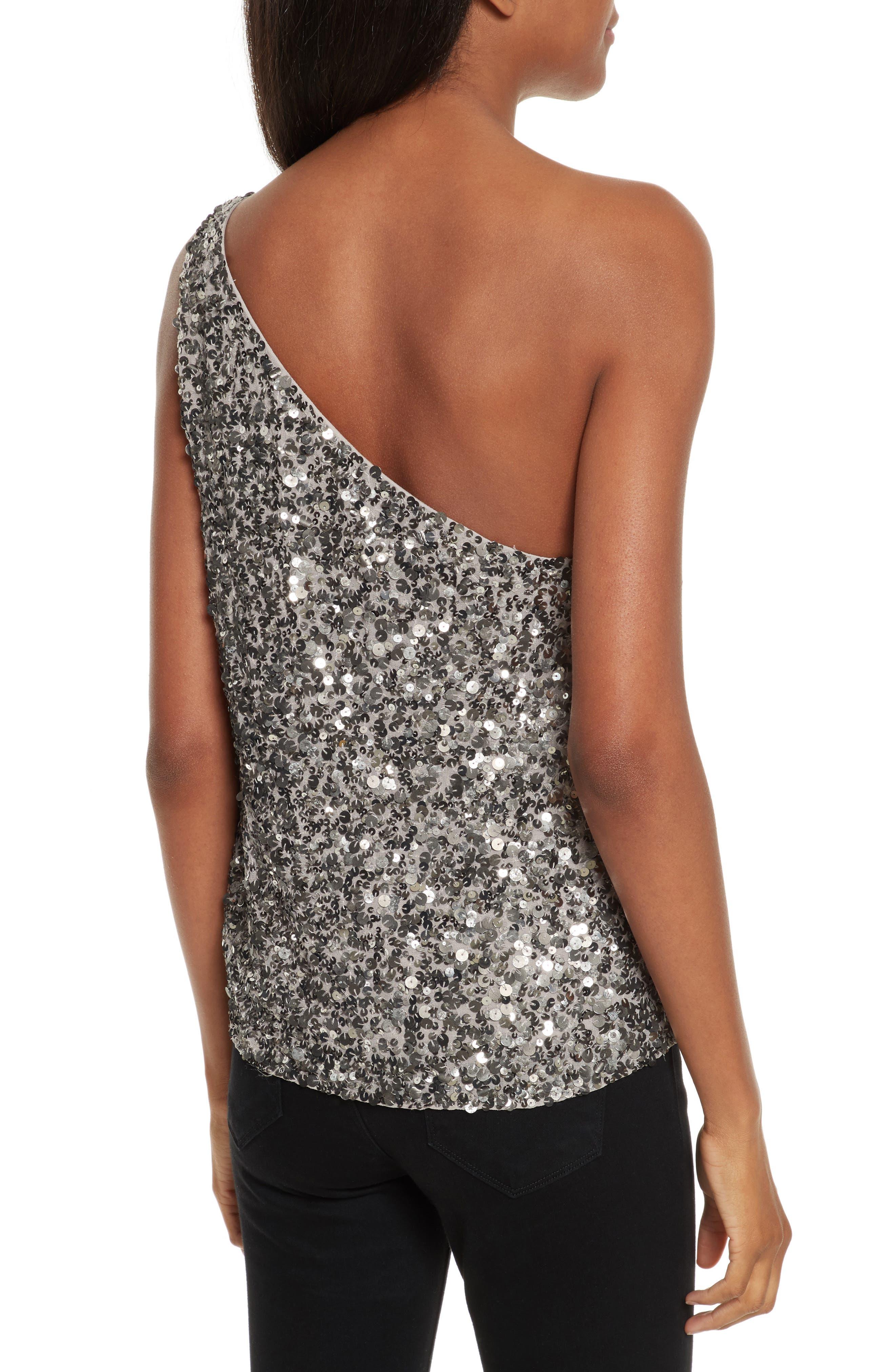 Alternate Image 2  - Joie Hedra One-Shoulder Sequin Top