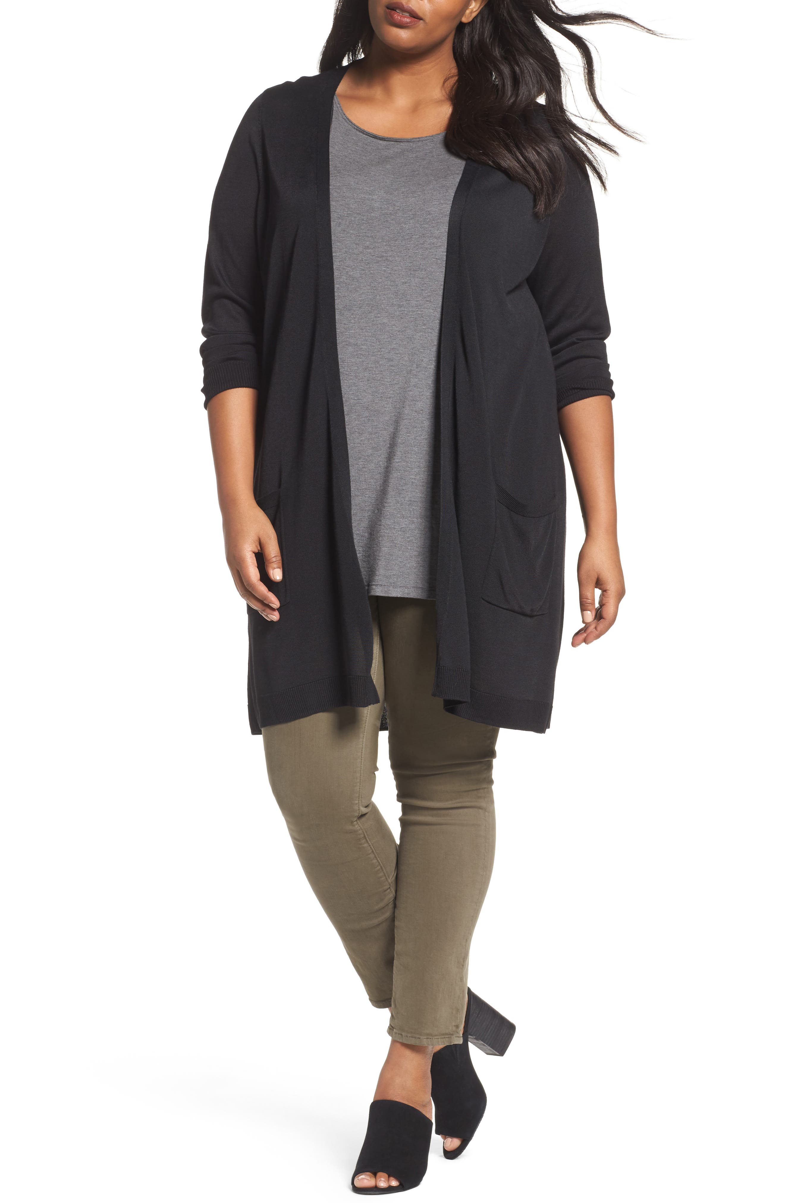 Sejour Long Cardigan (Plus Size)