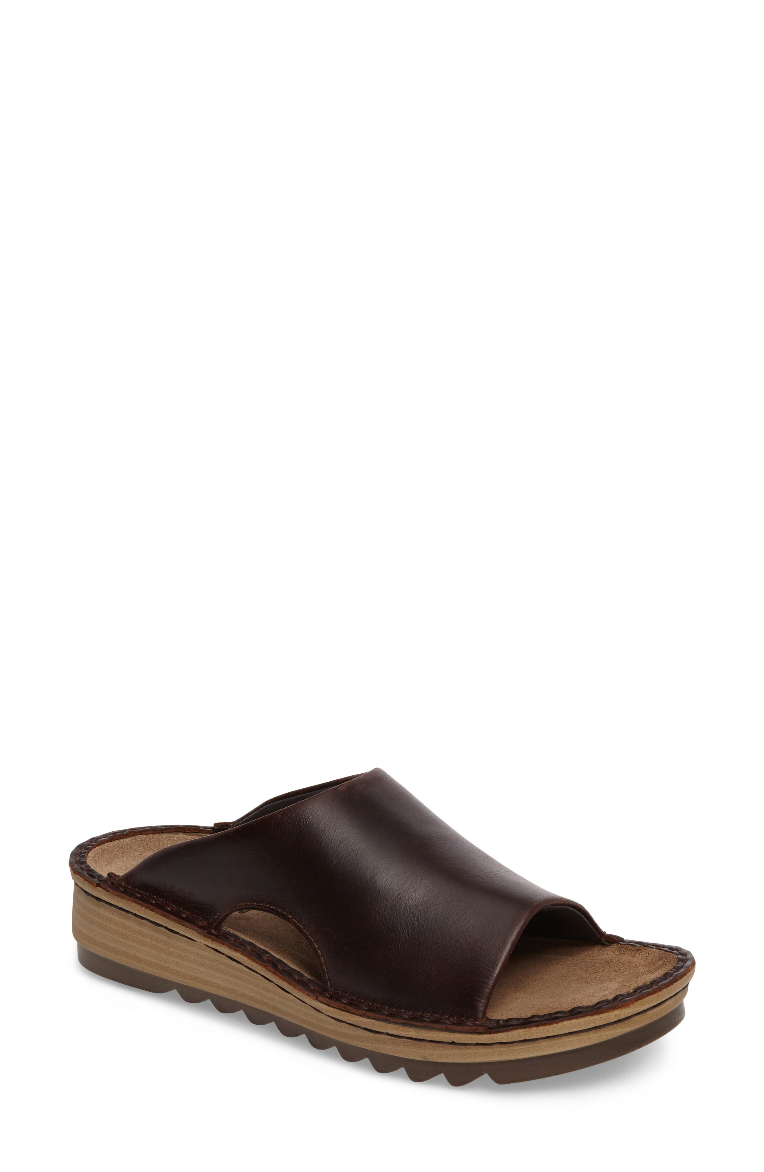 'Ardisia' Slide Sandal,                             Main thumbnail 1, color,                             Buffalo Leather